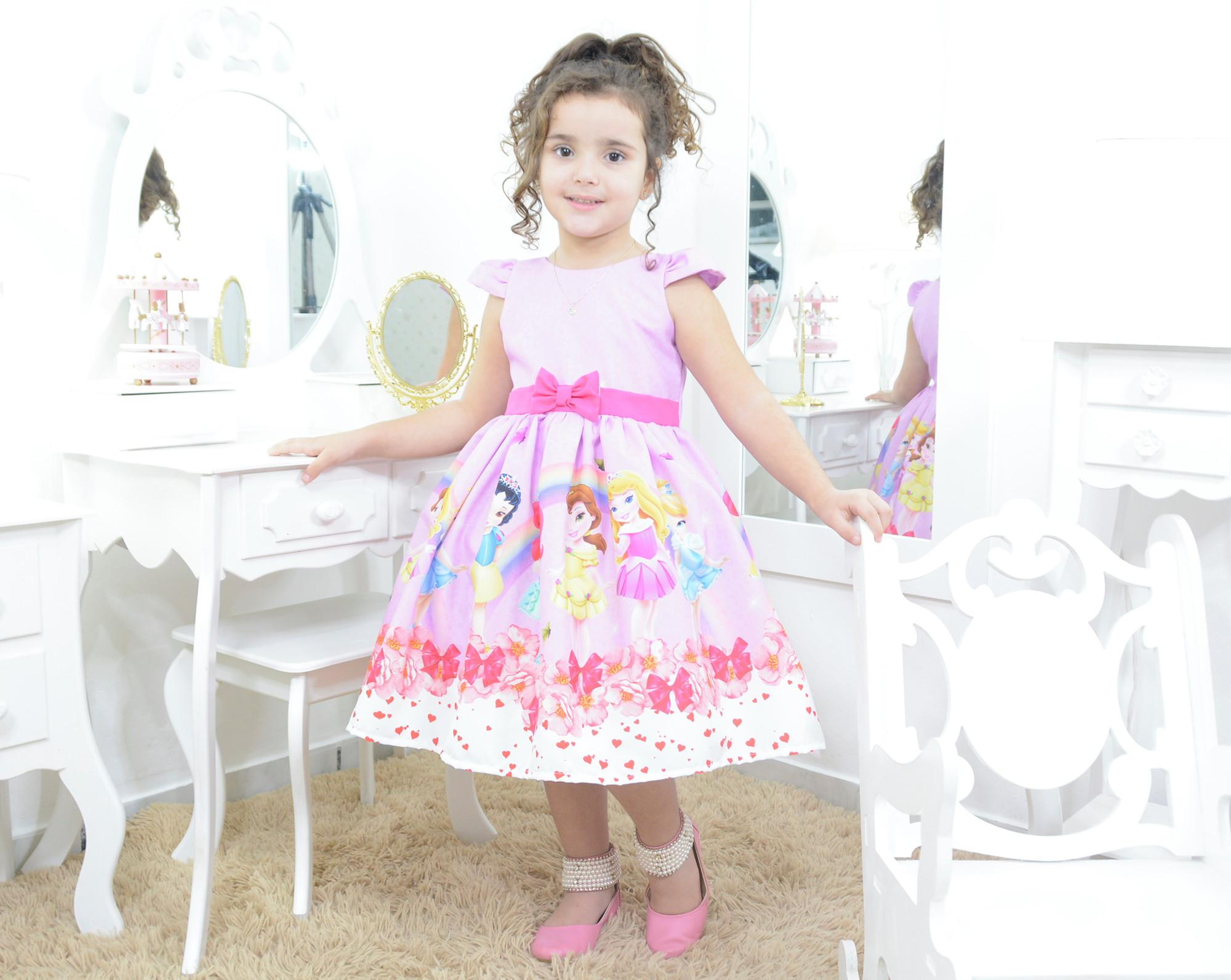 6c52229e3d36a8 Vestido Minnie Disney Infantil Tematico Festa Menina | Elo7