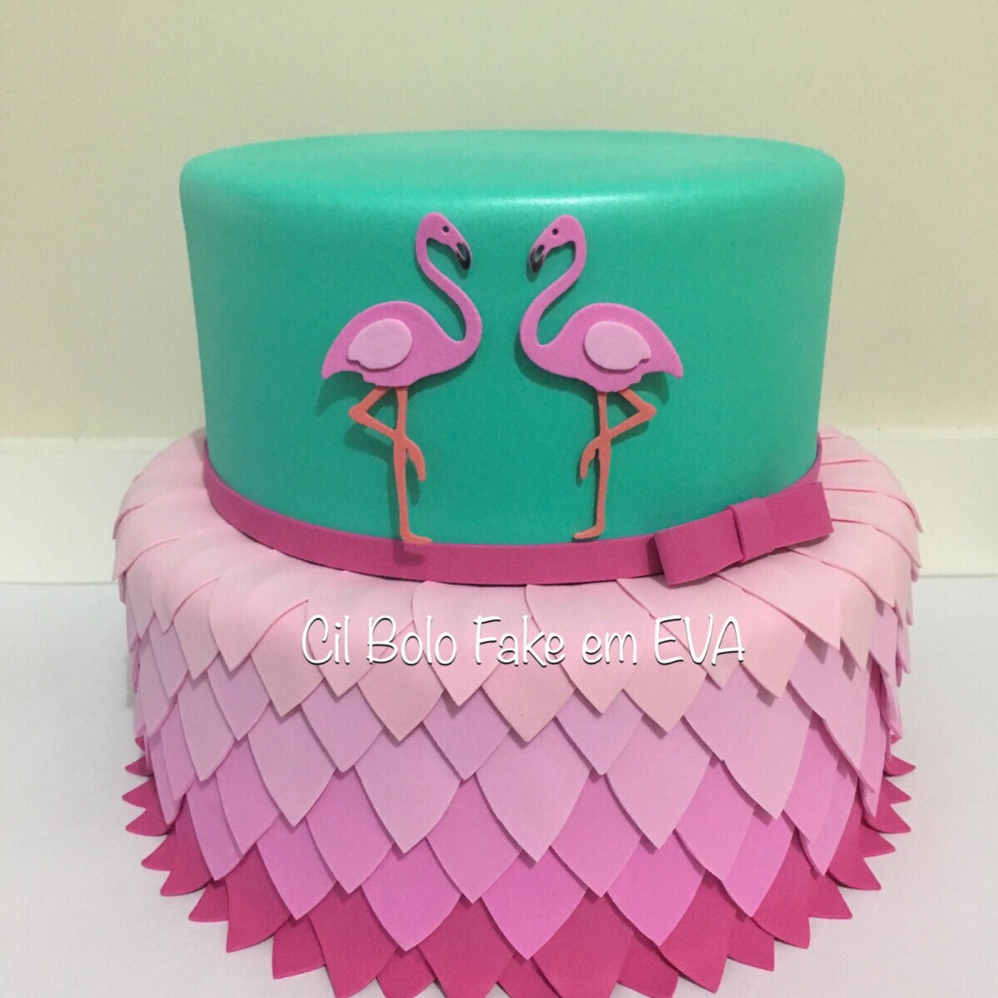 Bolo Fake Flamingo No Elo7 Cil Bolo Fake Em Eva C6db9a