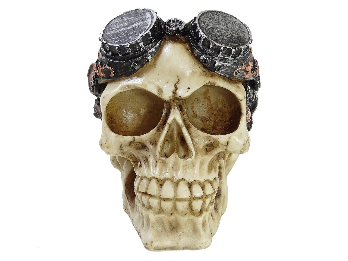 Crânio Caveira Engrenagens Ciborgue Cyborg Óculos Detalhada no Elo7   Tudo  De-Coração (C74D3E) d796bcecce