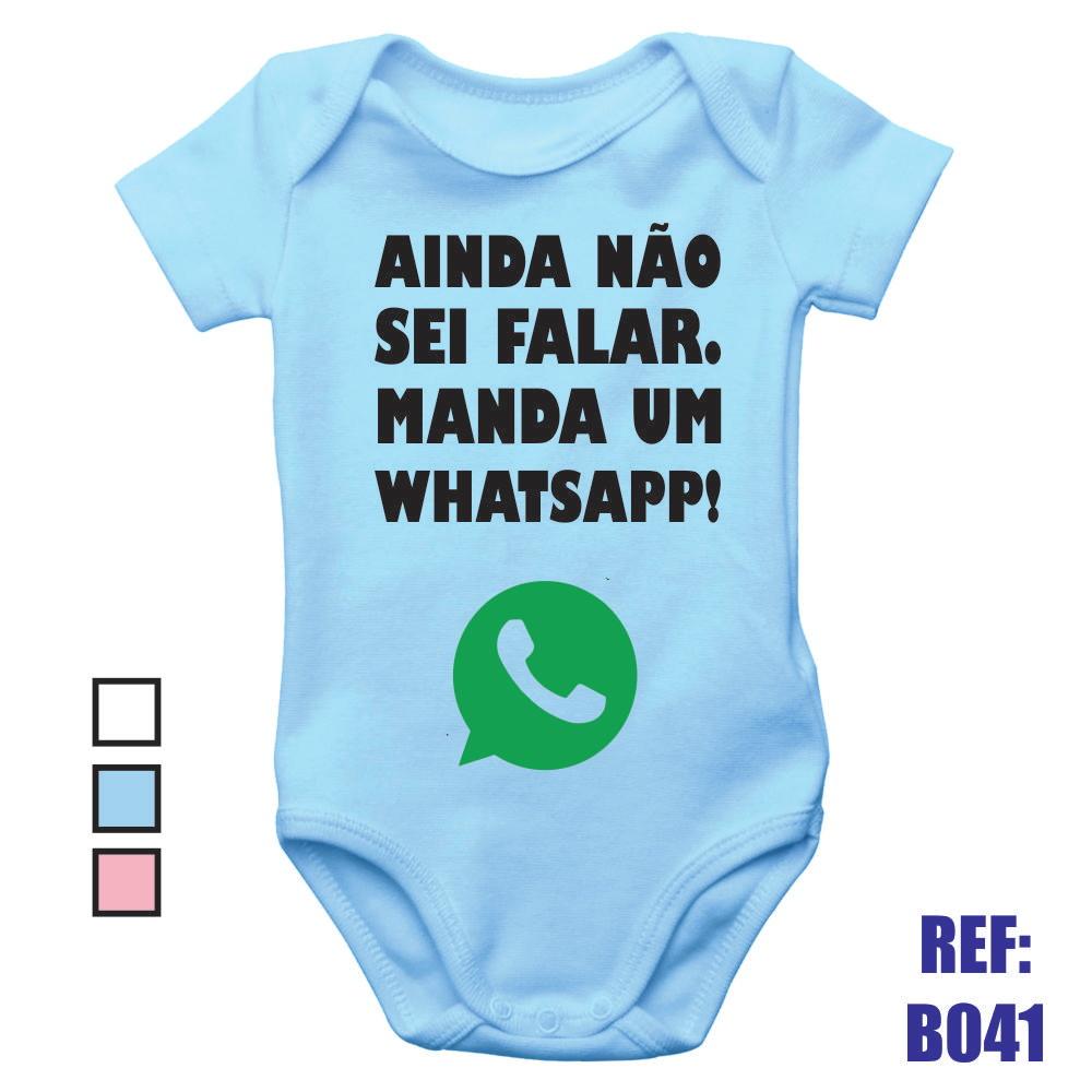 b1cda7b95e Body Infantil Ainda Nã Sei Falar Manda Um Whatsapp Bebê no Elo7 ...