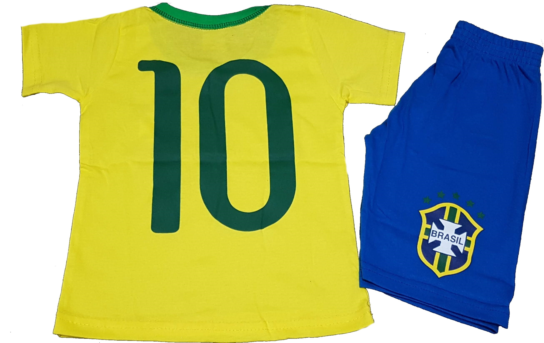 32ae21d3e Uniforme Brasil Copa Menino