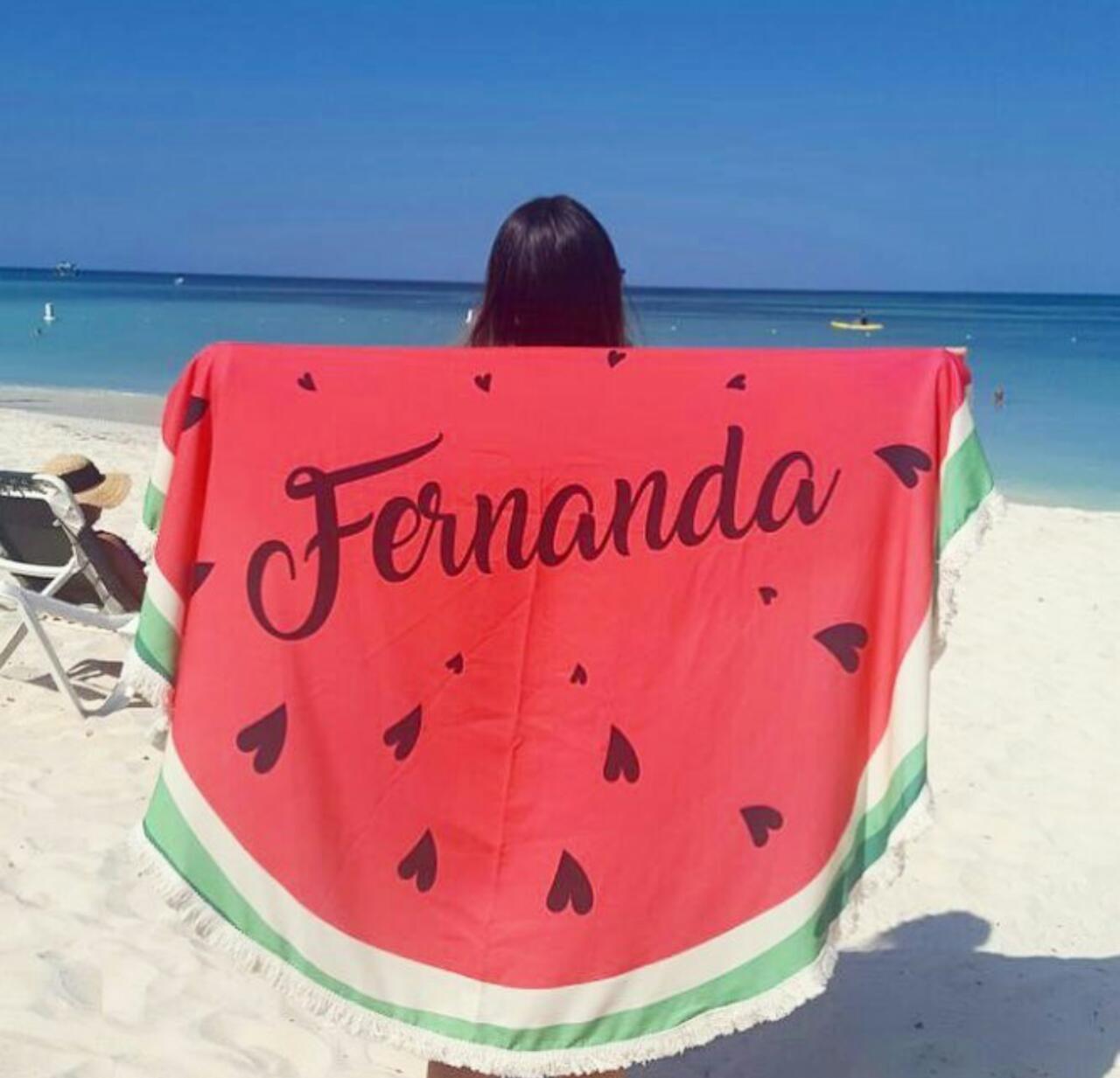 d4512613a9df Canga de Praia Redonda Personalizada Melancia Infantil no Elo7 | Sarah  Chandoha Acessórios Personalizados (C7DDB4)