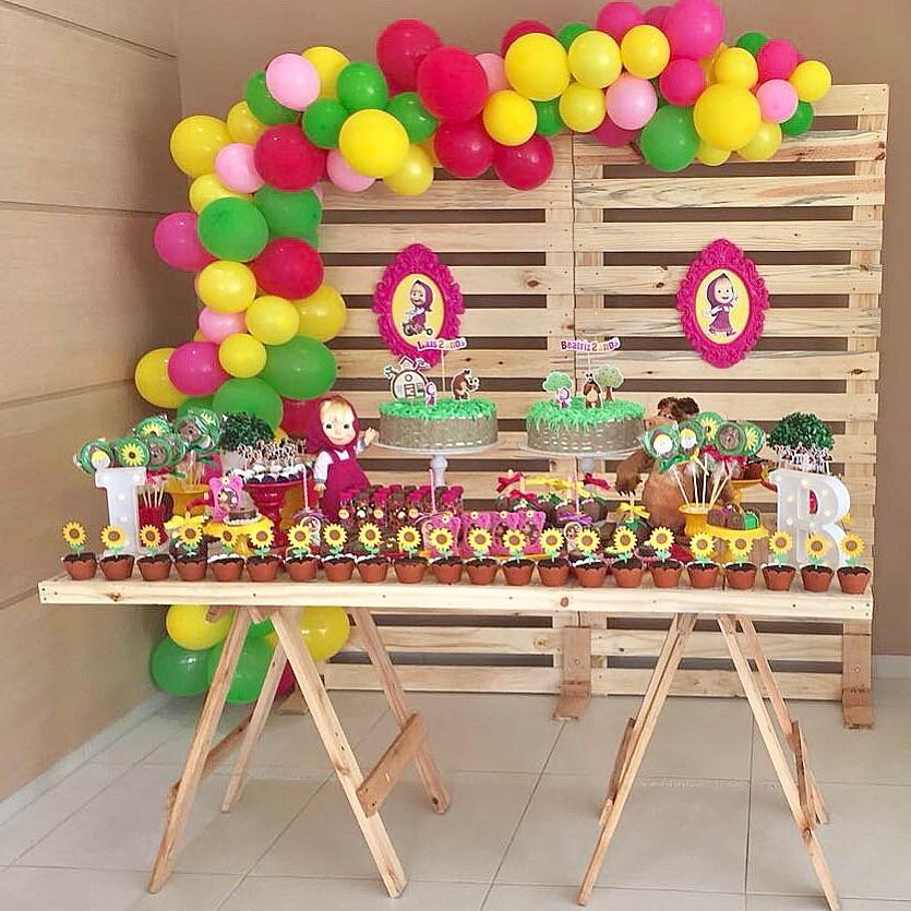 Kit Festa Masha E Urso Decoração Completa Locação