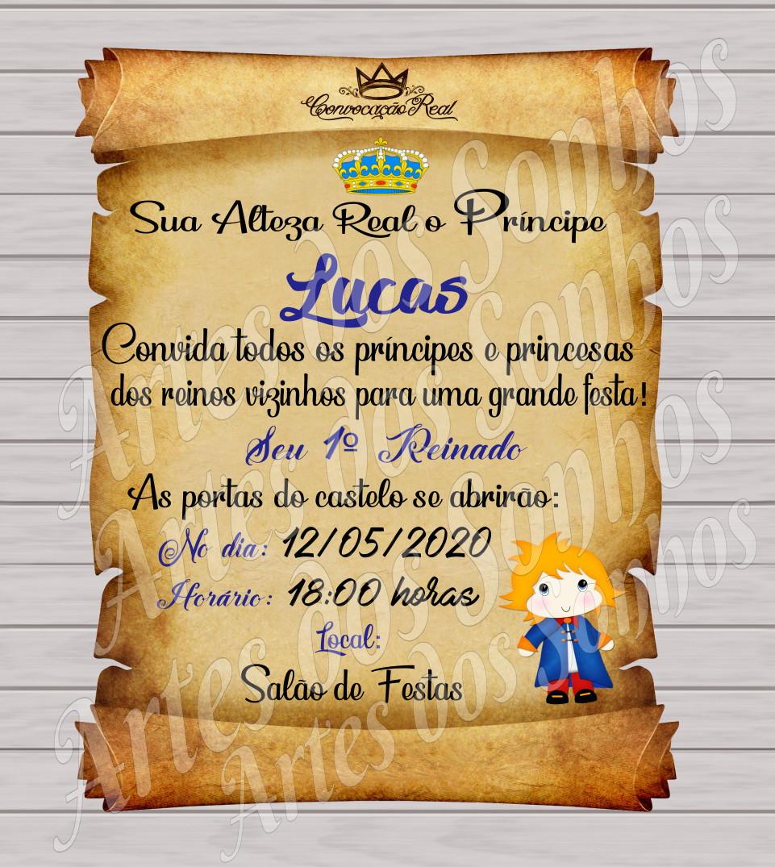 Convite Pergaminho Pequeno príncipe no Elo7 | Artes dos Sonhos (C82000)