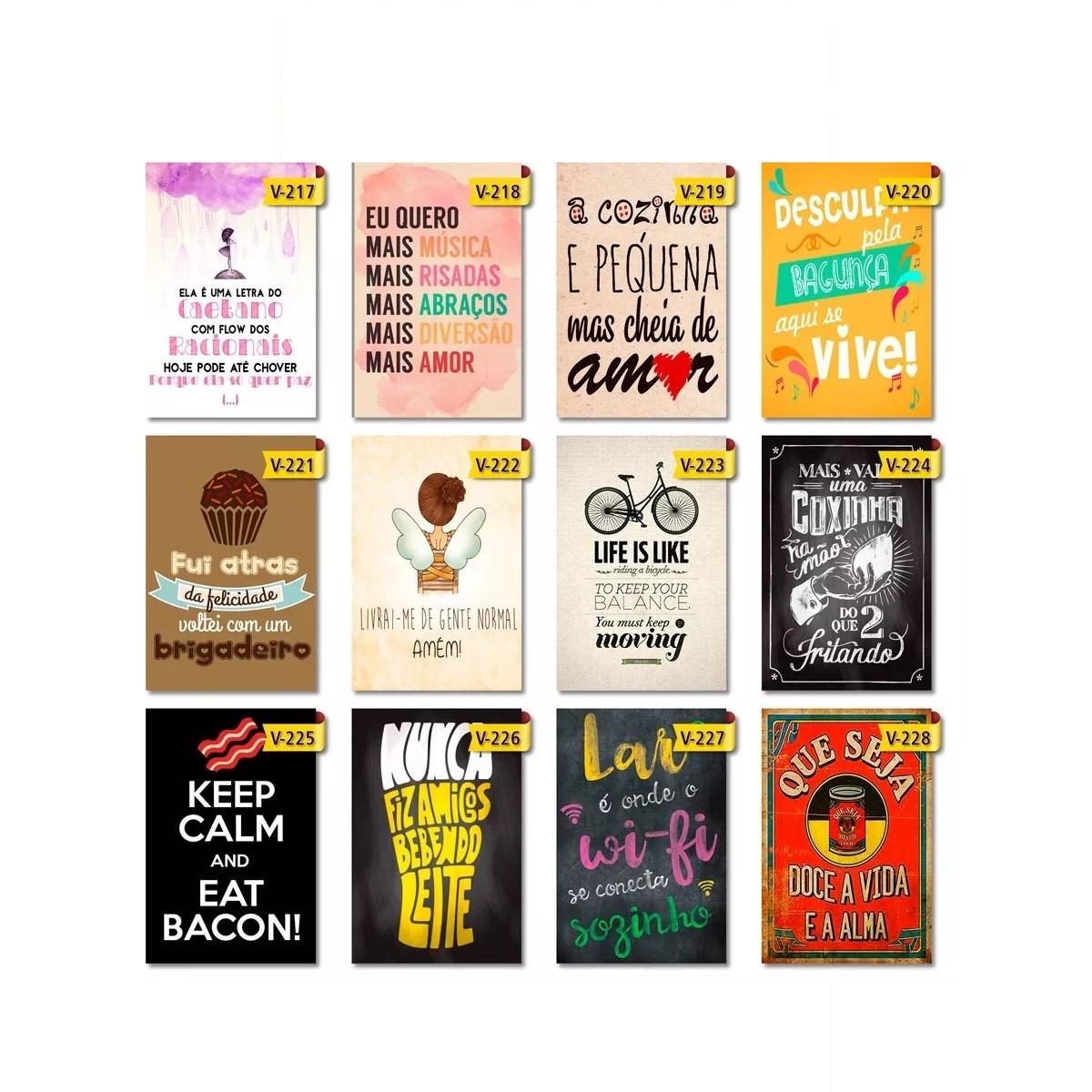 Placa Decorativa Frases Motivacionais 20x30cm