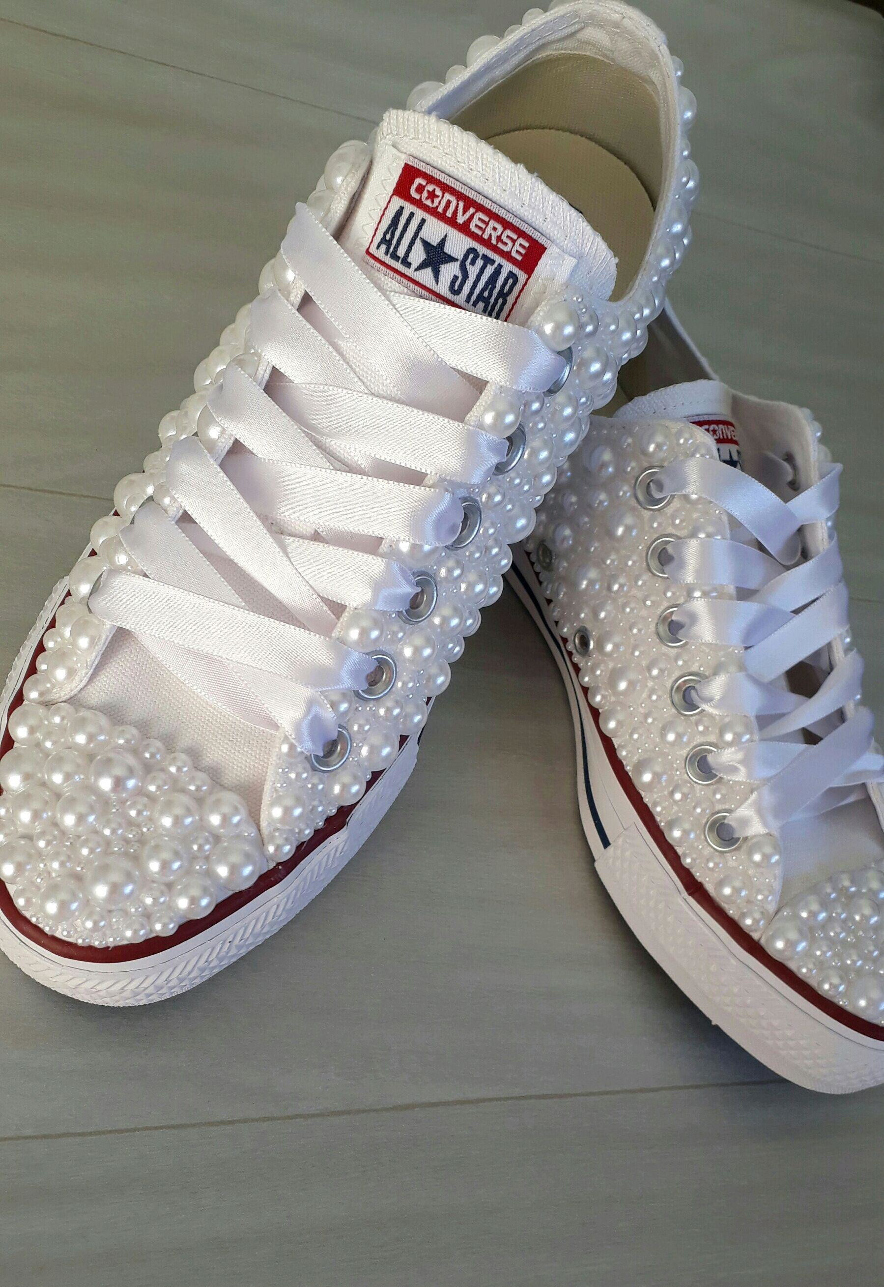 Tenis All Star Branco com Perolas  864e195c83