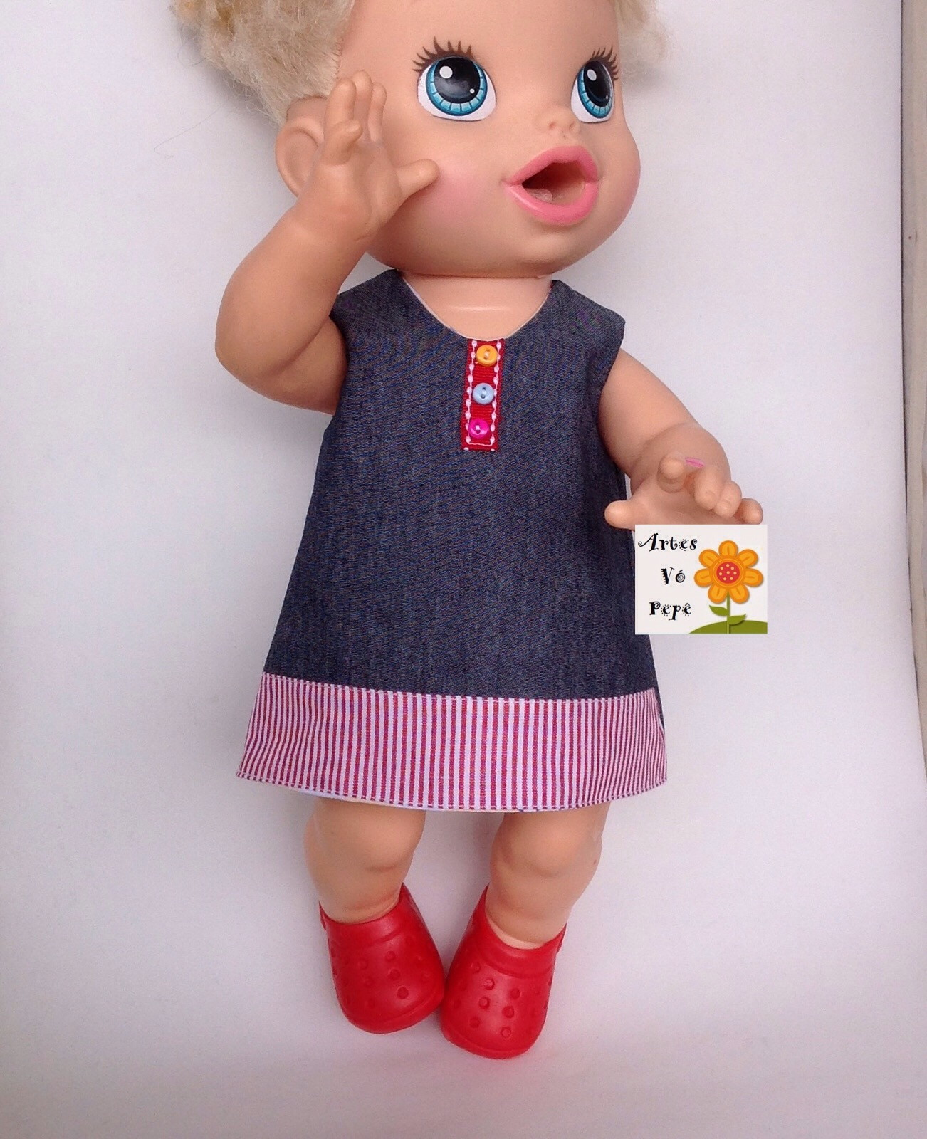 4e972cc1b9 Vestido baby alive dupla face (boneca)) no Elo7