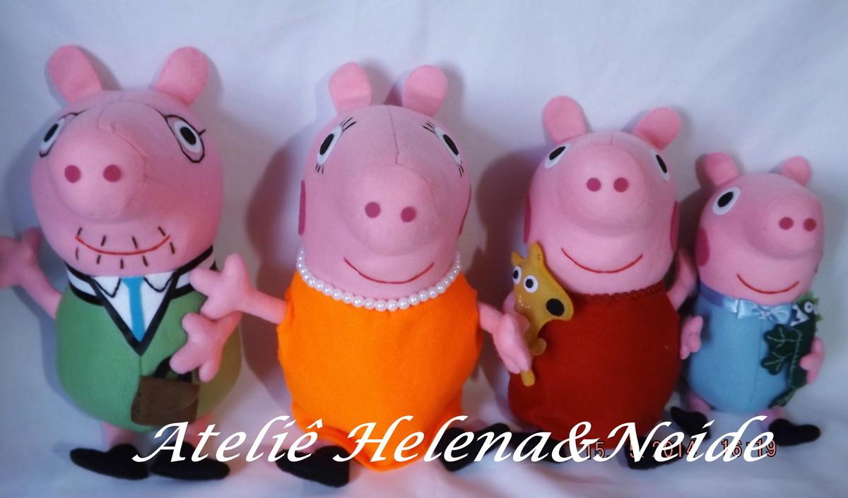 Familia Peppa Pig Em Feltro No Elo7 Atelie Helena E Neide C871e2