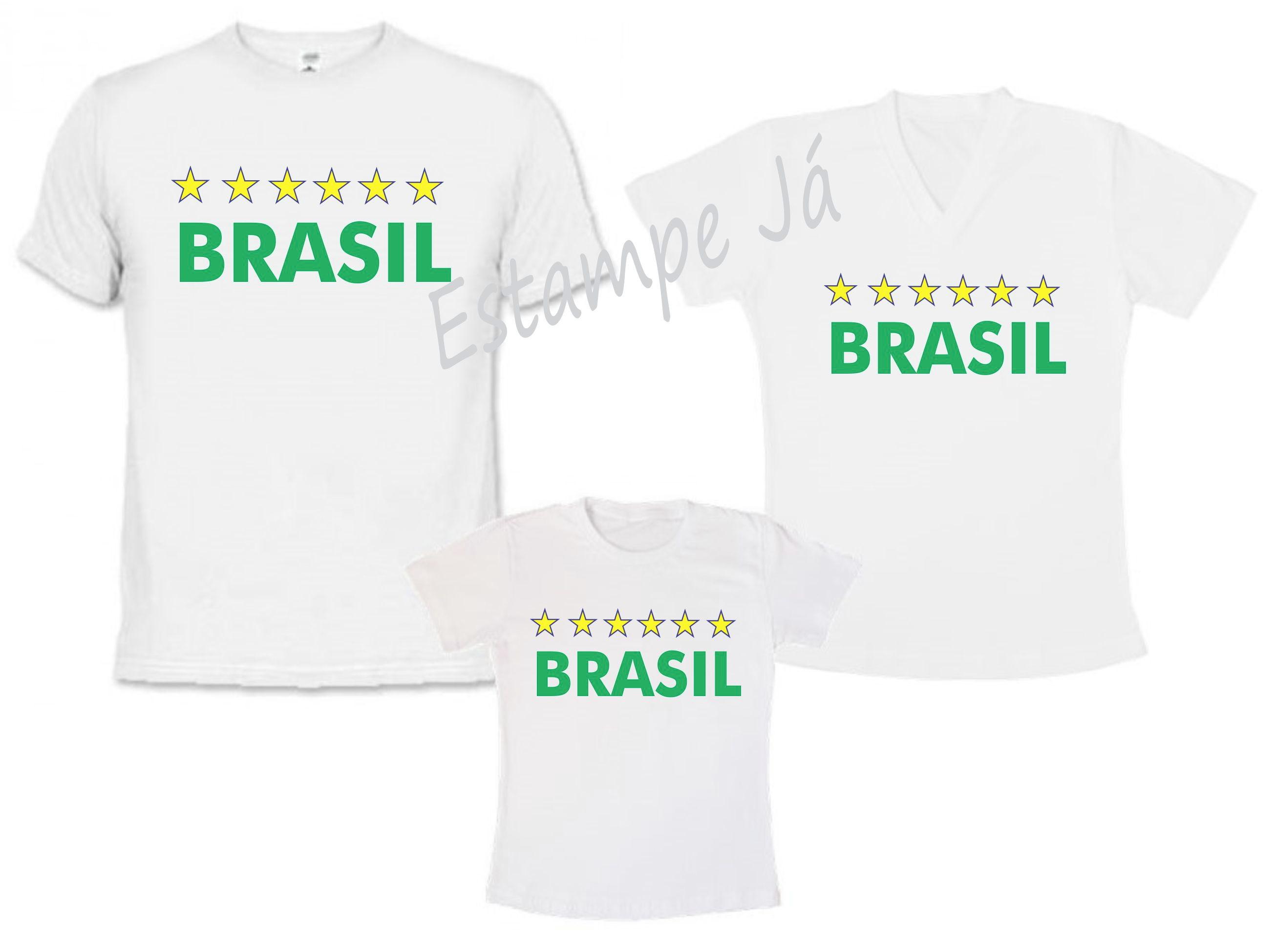 5ed73bace0 Camiseta Personalizada Brasil Copa