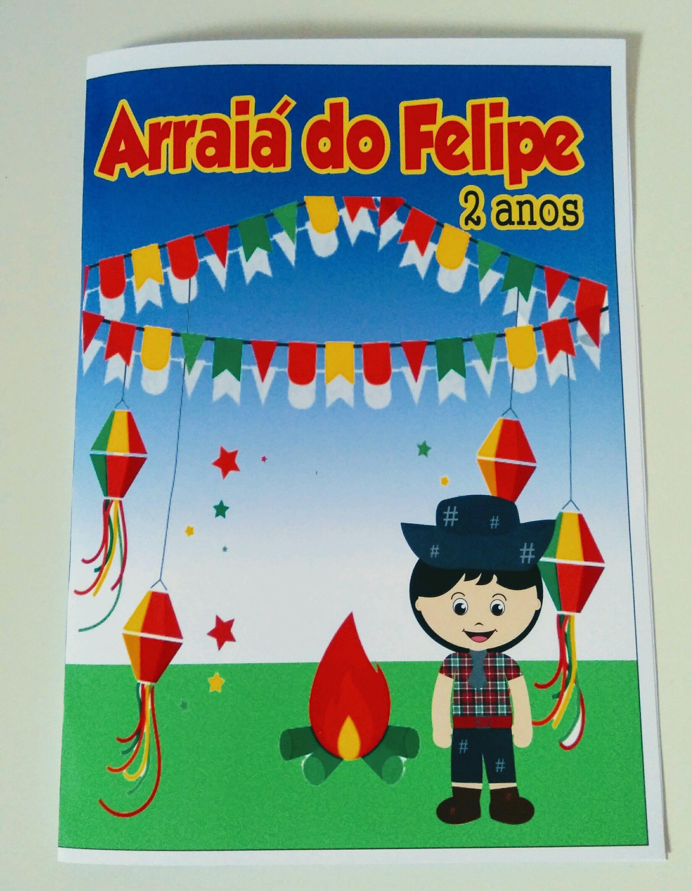 Livro De Colorir Personalizado Festa Junina No Elo7 Mania De