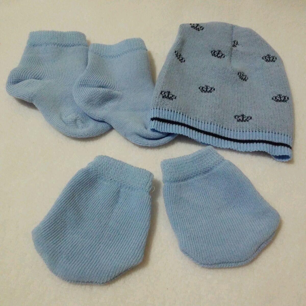 Sapatinho Azul Claro para Bebe Recem Nascido Unissex  a80db9d405d