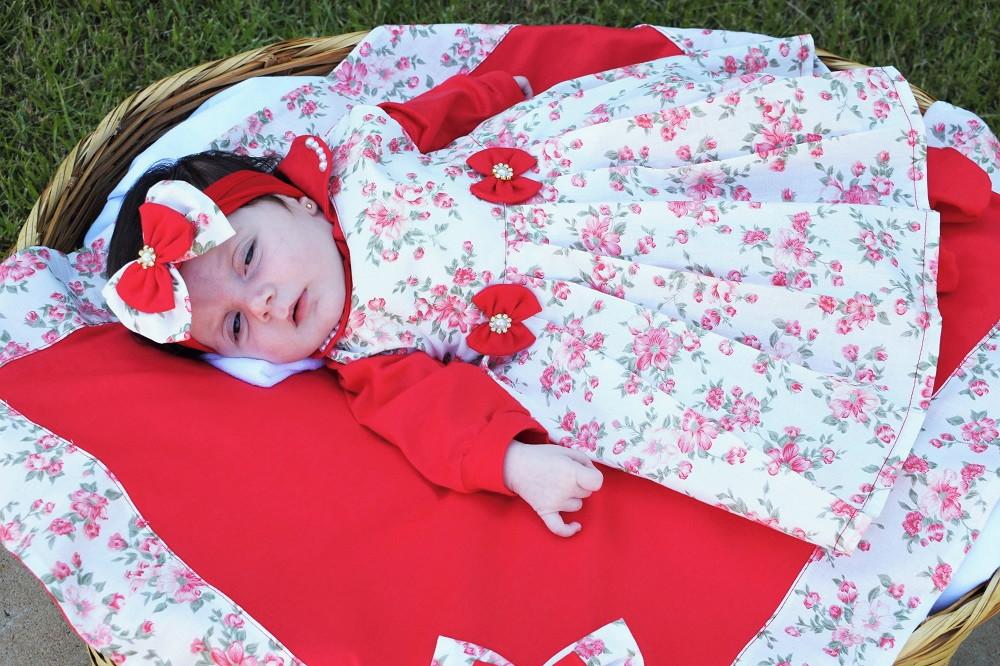 Saida de Maternidade Menina 05 Pecas  b2de79b1c1e