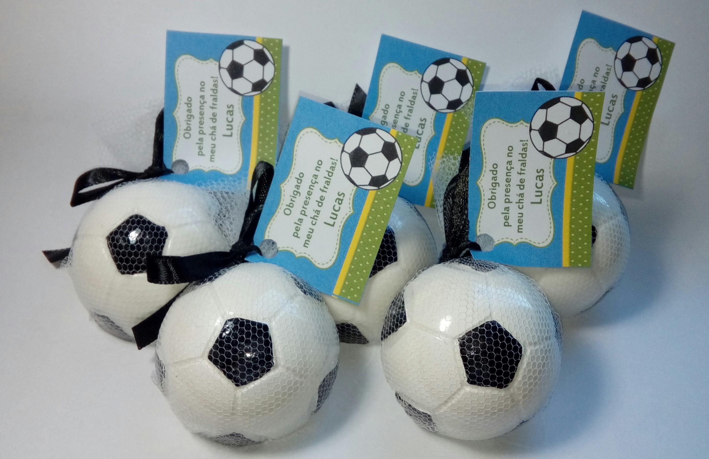 Sabonete Bola de Futebol Lembrancinha  8d50f93836933