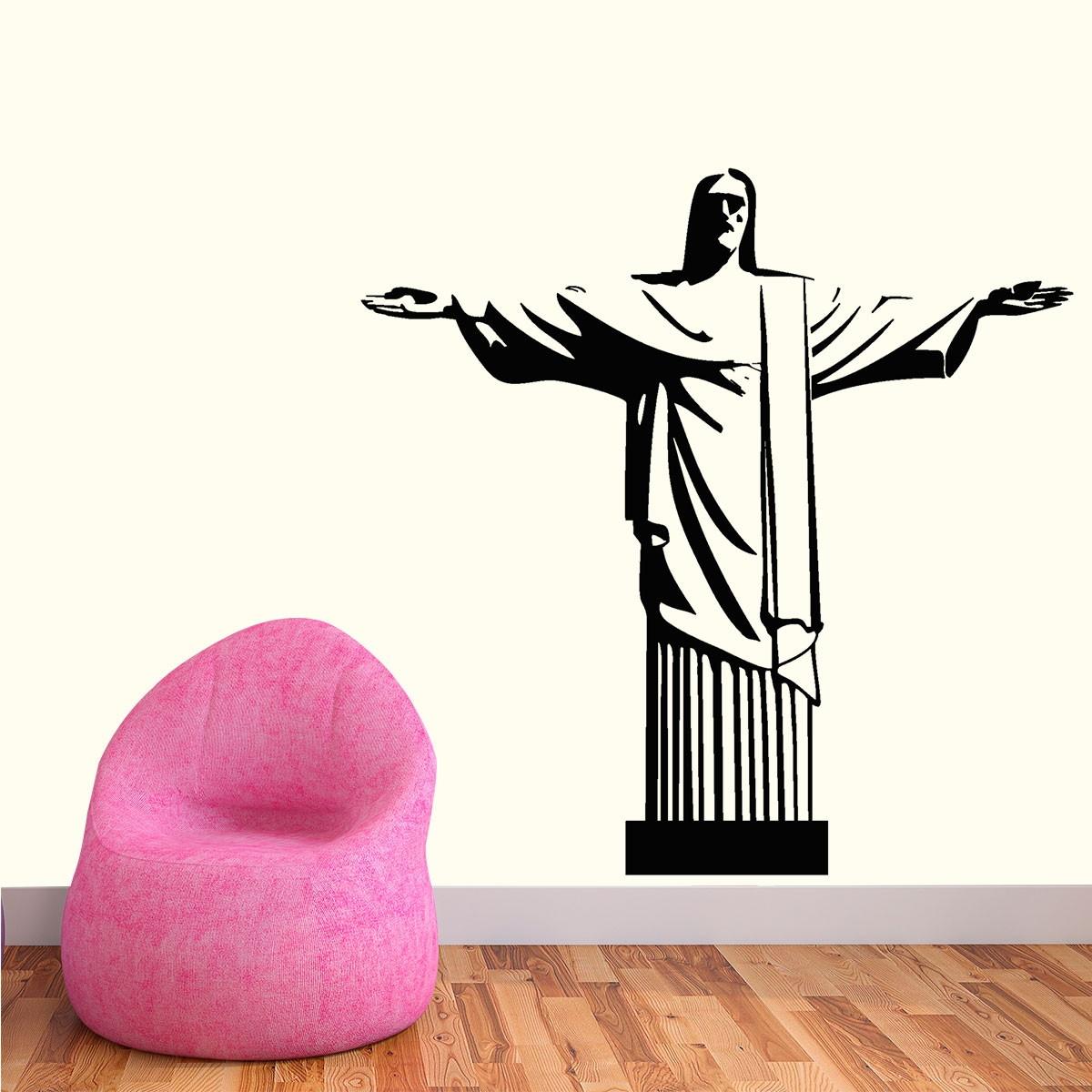 Adesivo De Parede Est Tua Cristo Redentor Eg 68x68cm No Elo7 Fran  -> Fran Adesivos