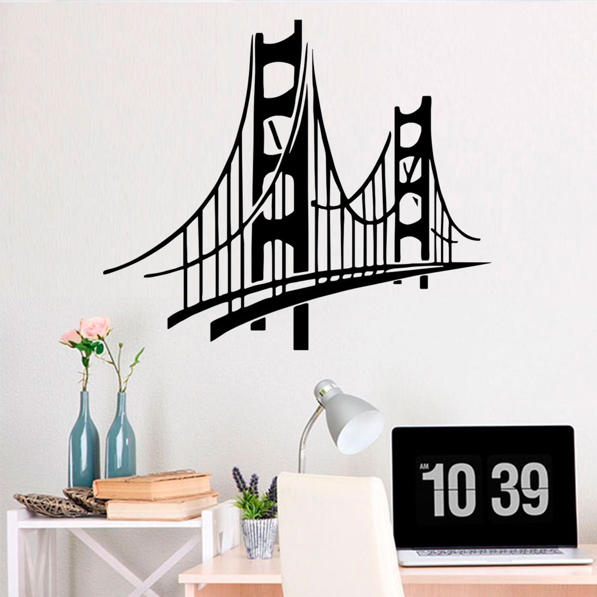 Adesivo De Parede Ponte Golden Bridge Es 115x98cm No Elo7 Fran  -> Fran Adesivos