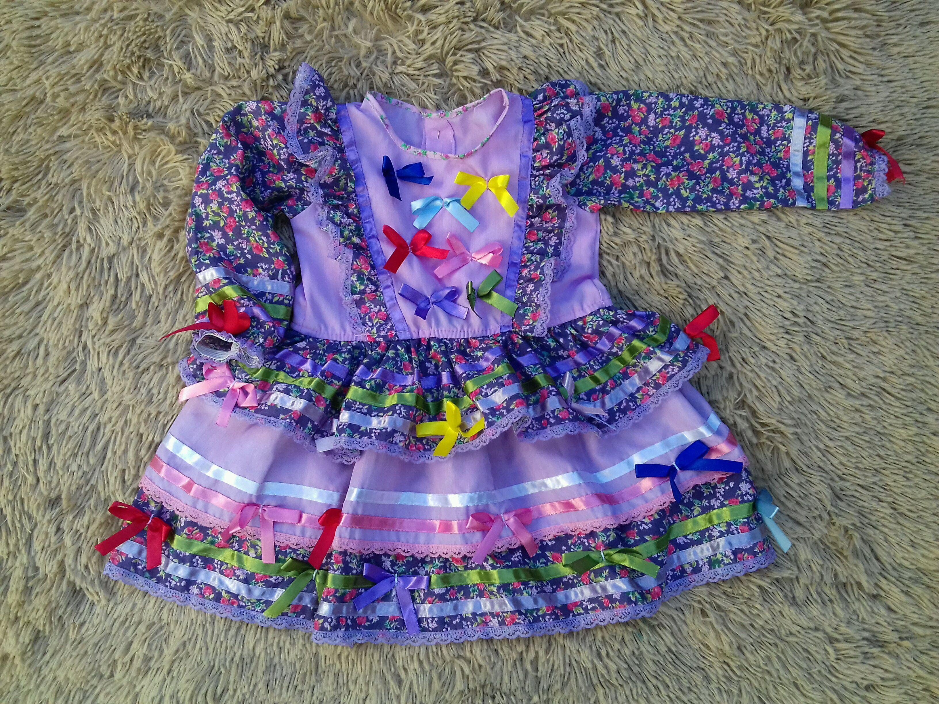 Vestido Festa Junina Luxo Brinde Tiara  9917bdb4c5e