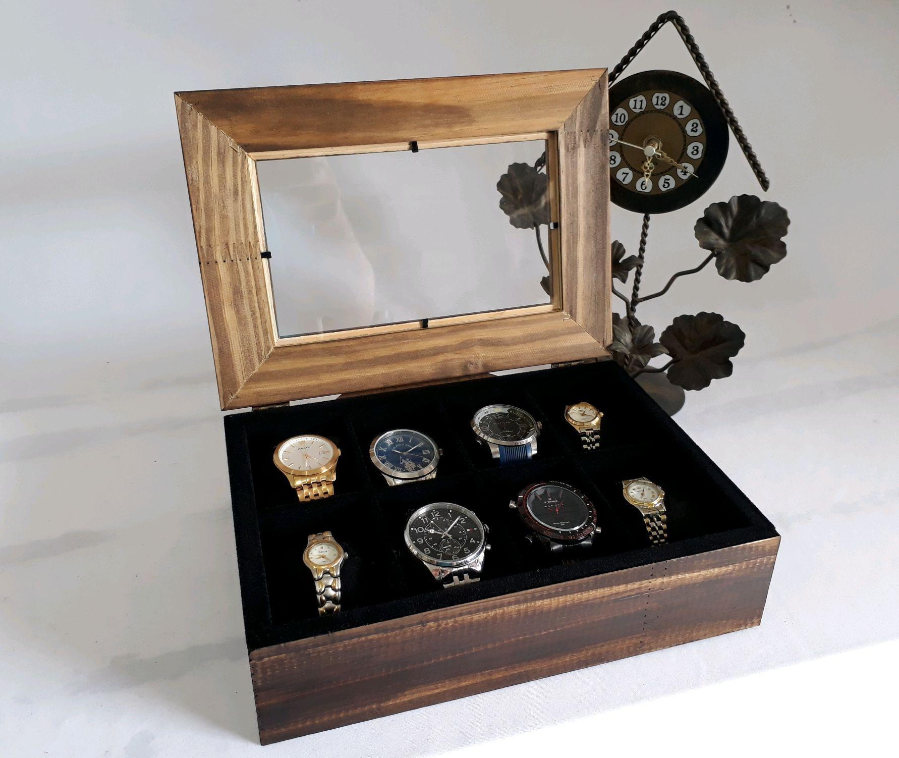 ef80cd15fd7 Caixa Porta Relógios Super Luxo