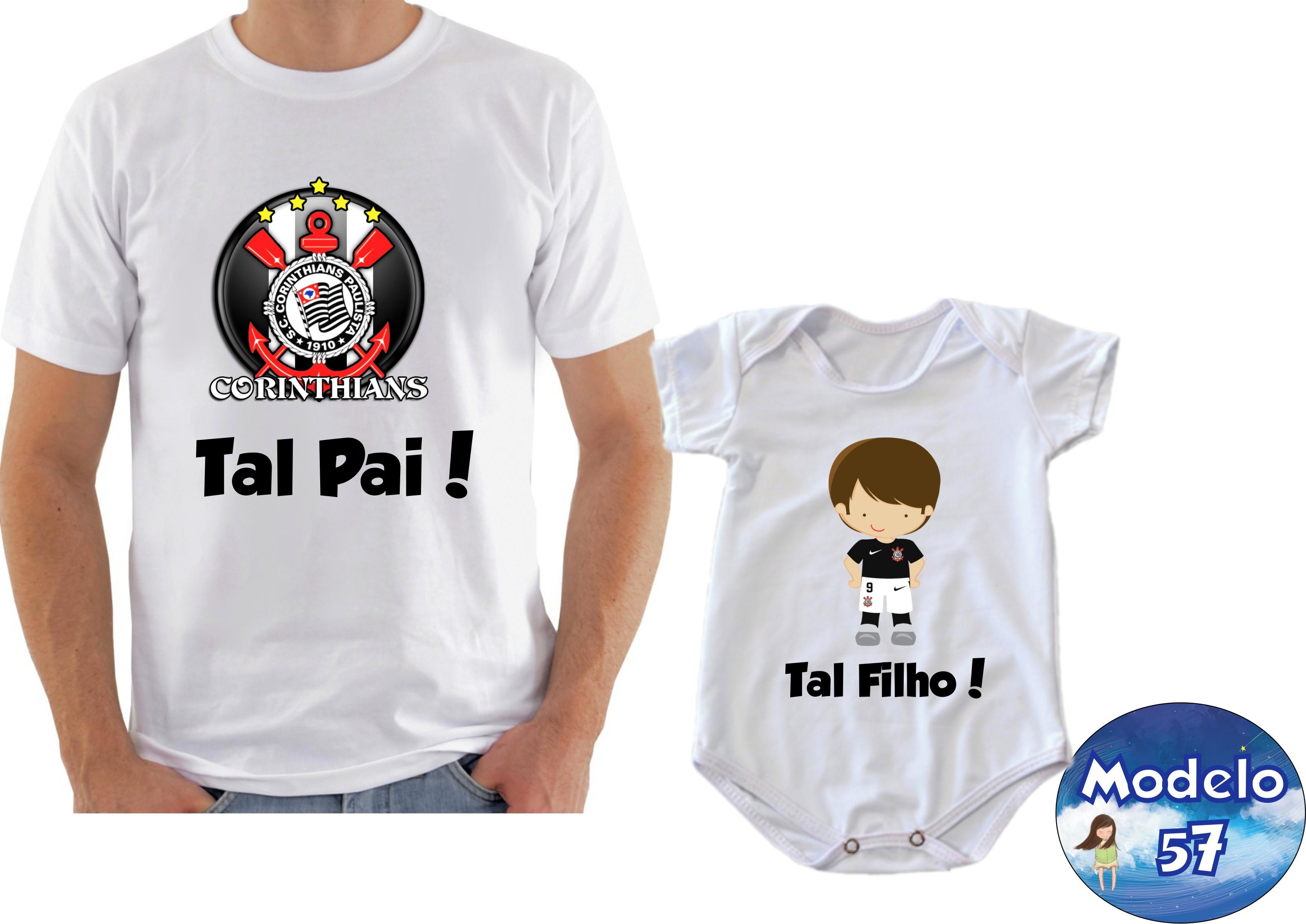 ba69932bb9378 Camiseta Body Personalizadas Tal Pai Tal Filho com 2 Und