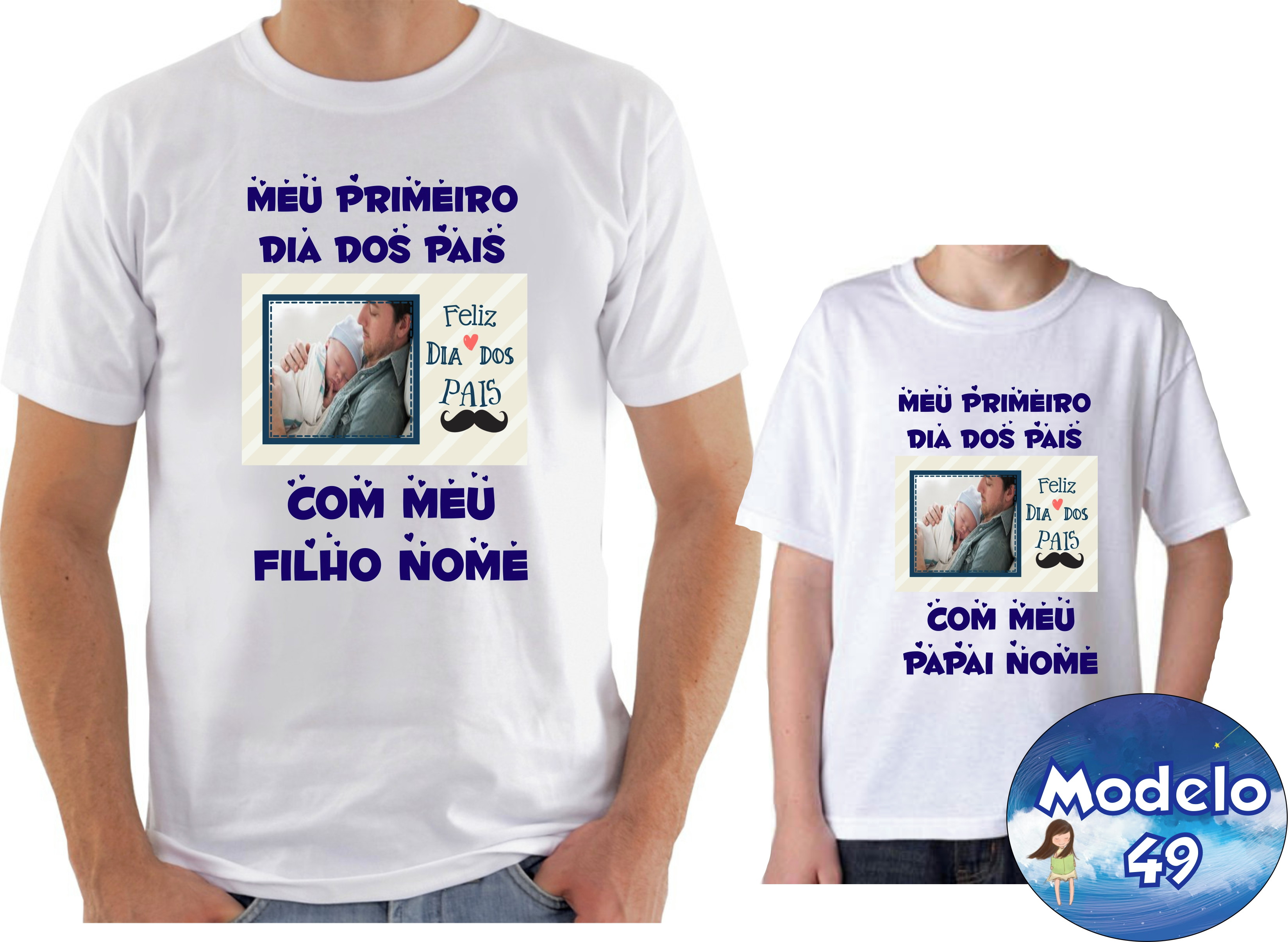 Camiseta Personalizada Dia Dos Pais Com Foto Elo7
