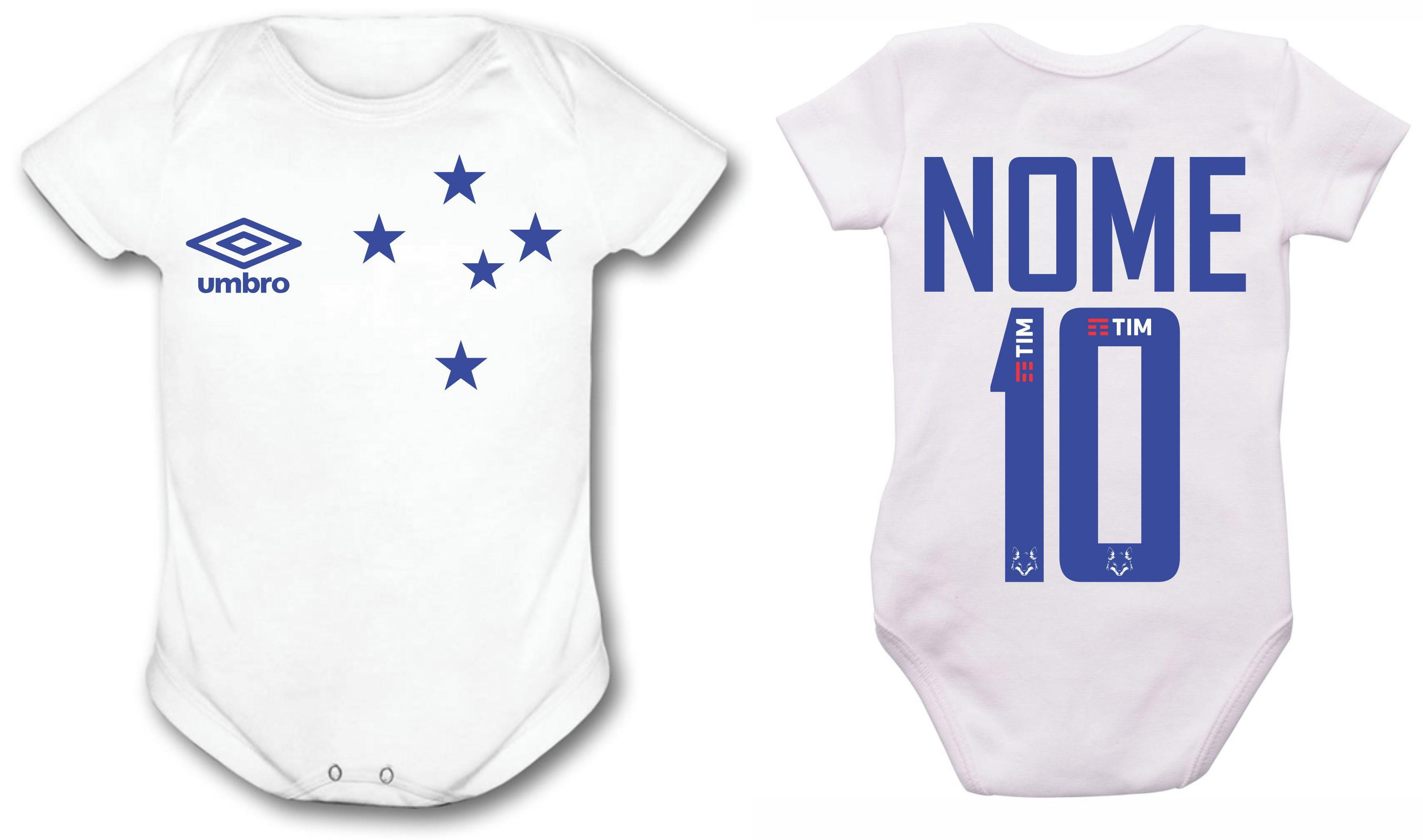 Camiseta Gestante Bebe Cruzeiro Times  727da0b3024