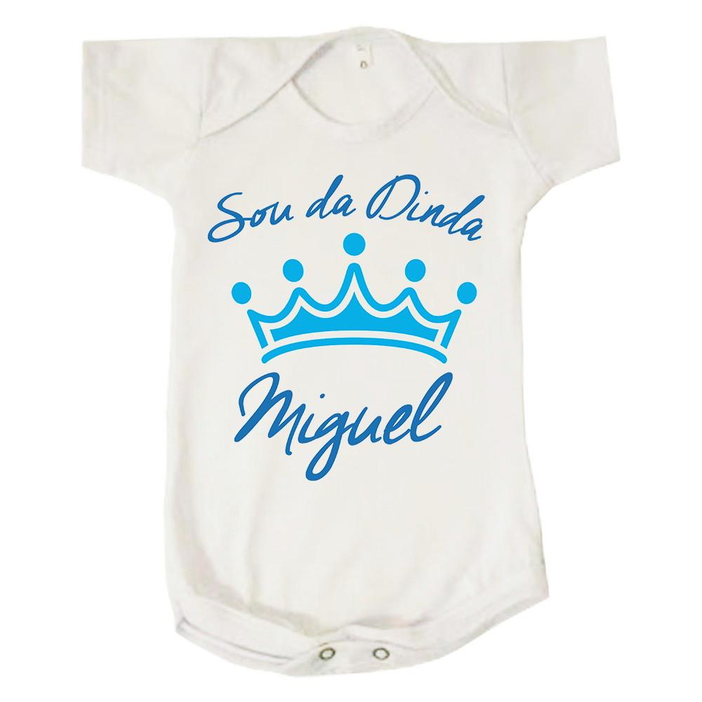 c6882865e8 Body Personalizado para Bebe Sou Fa da Dinda Madrinha