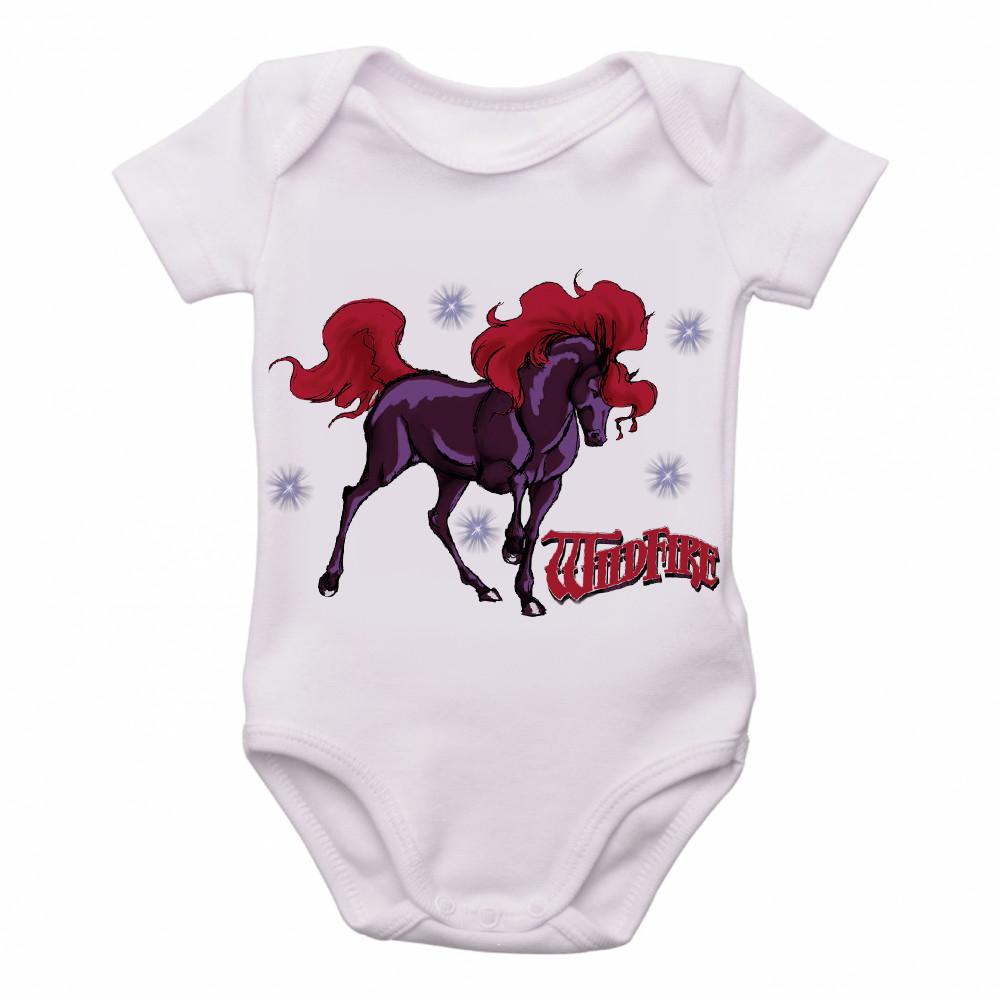 Bodie Body Crianca Infantil Roupa Bebe Cavalo de Fogo Desenh  da05f977459