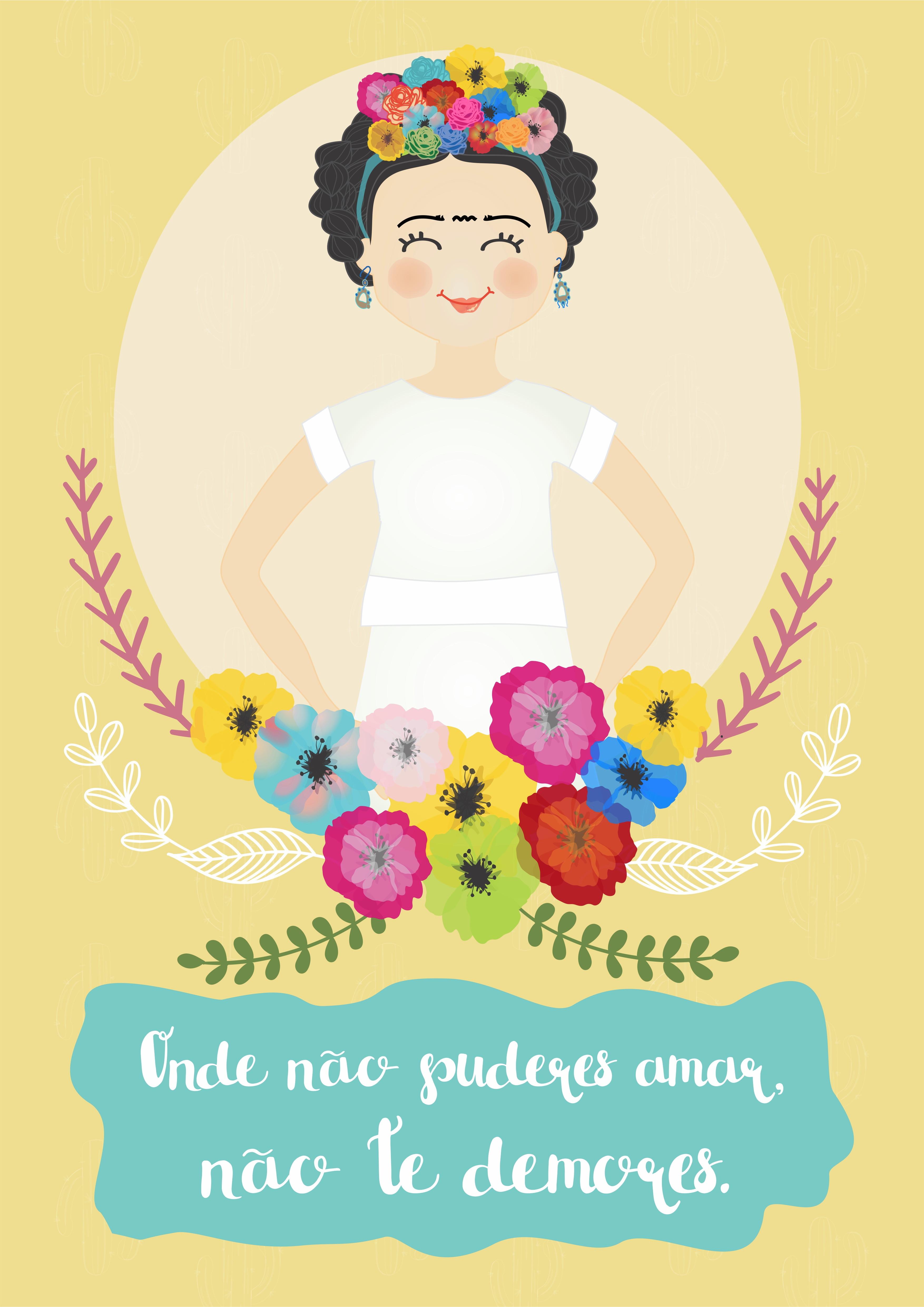 Quadro Digital Frida Frase No Elo7 Ideando Ca0a03