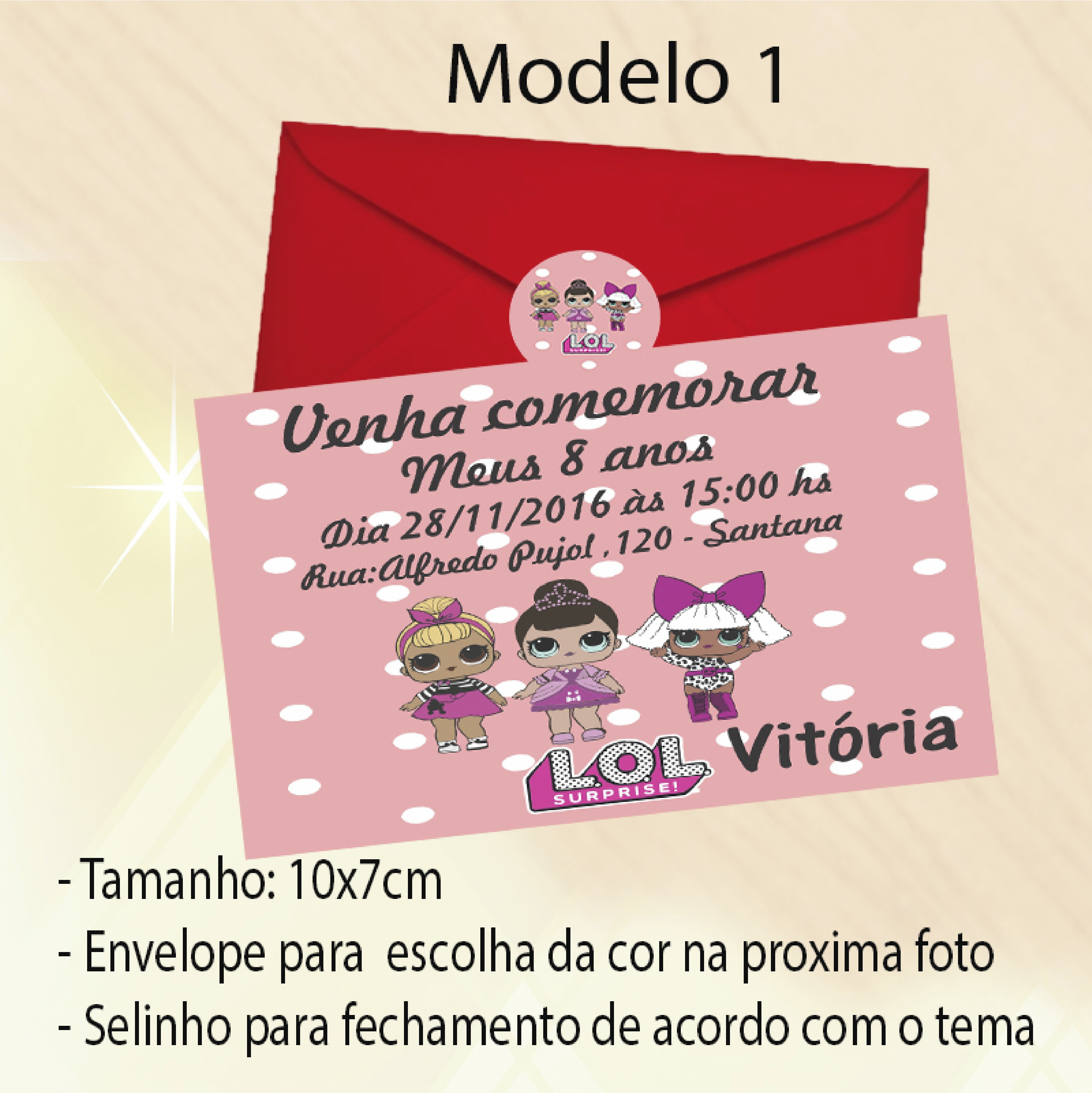 Convite Lol Elo7