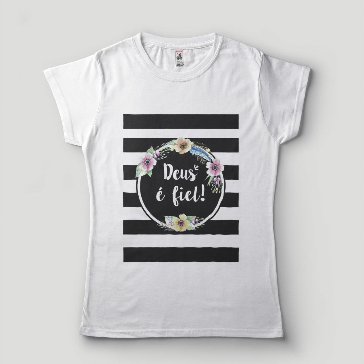 b20afe81e Camiseta Adulto Deus e Fiel