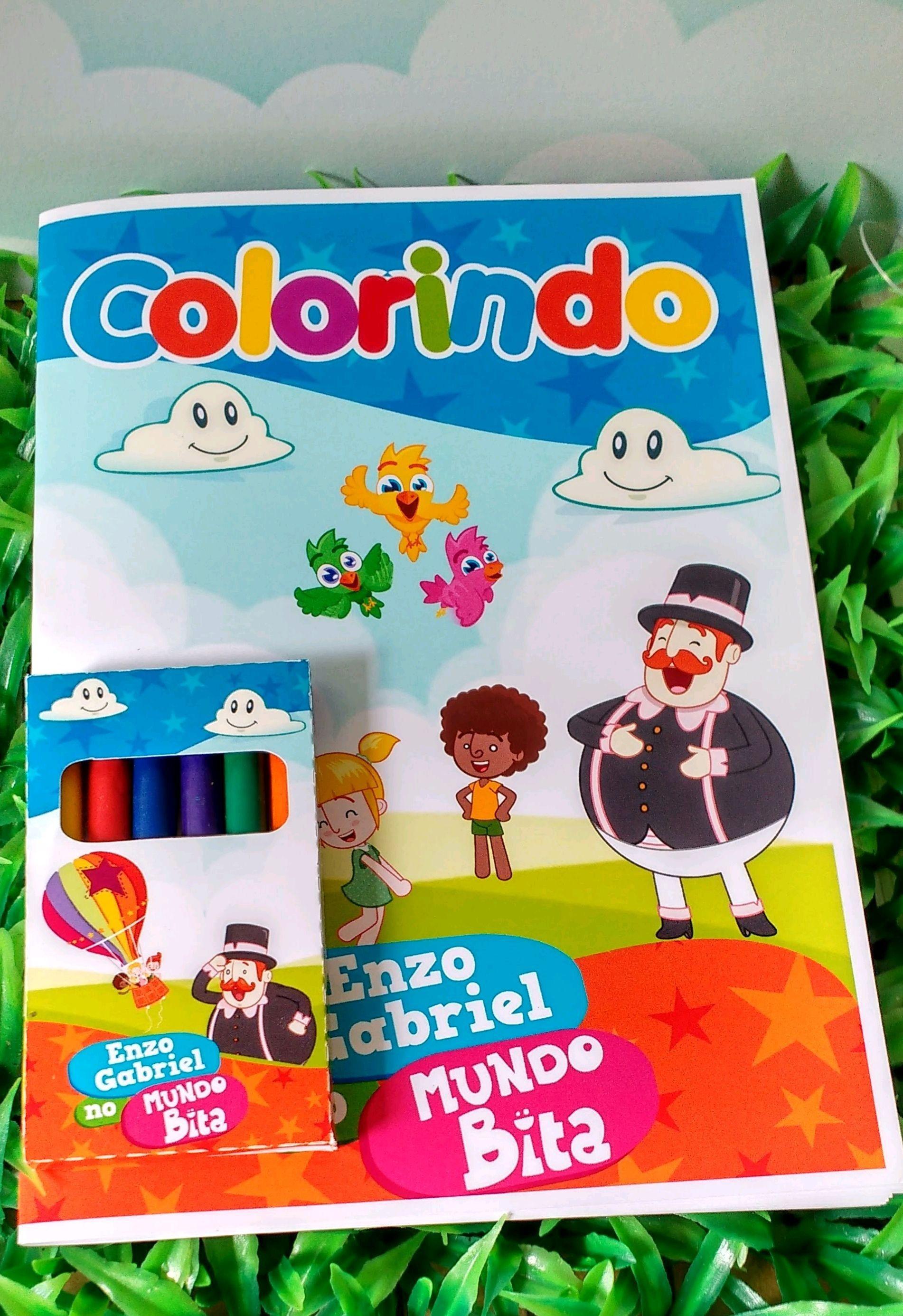 Kit Colorir Mundo Bita Com Massinha De Modelar No Elo7 Estudio R