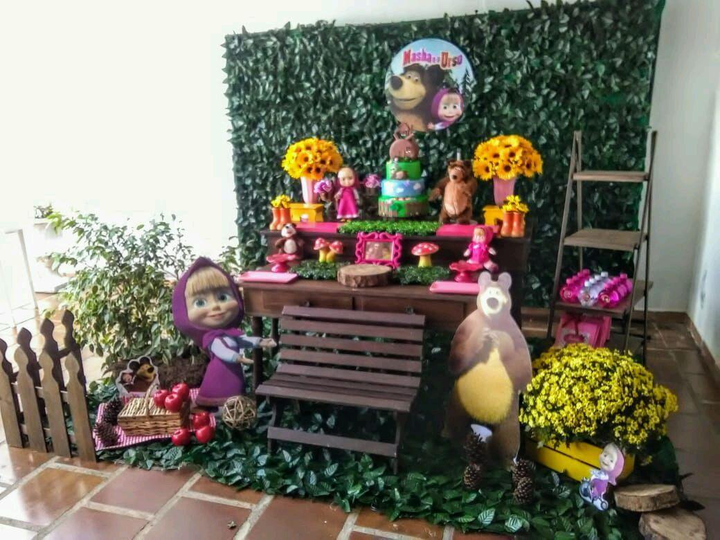 Aluguel Decoracao De Festa Infantil Masha E O Urso Elo7