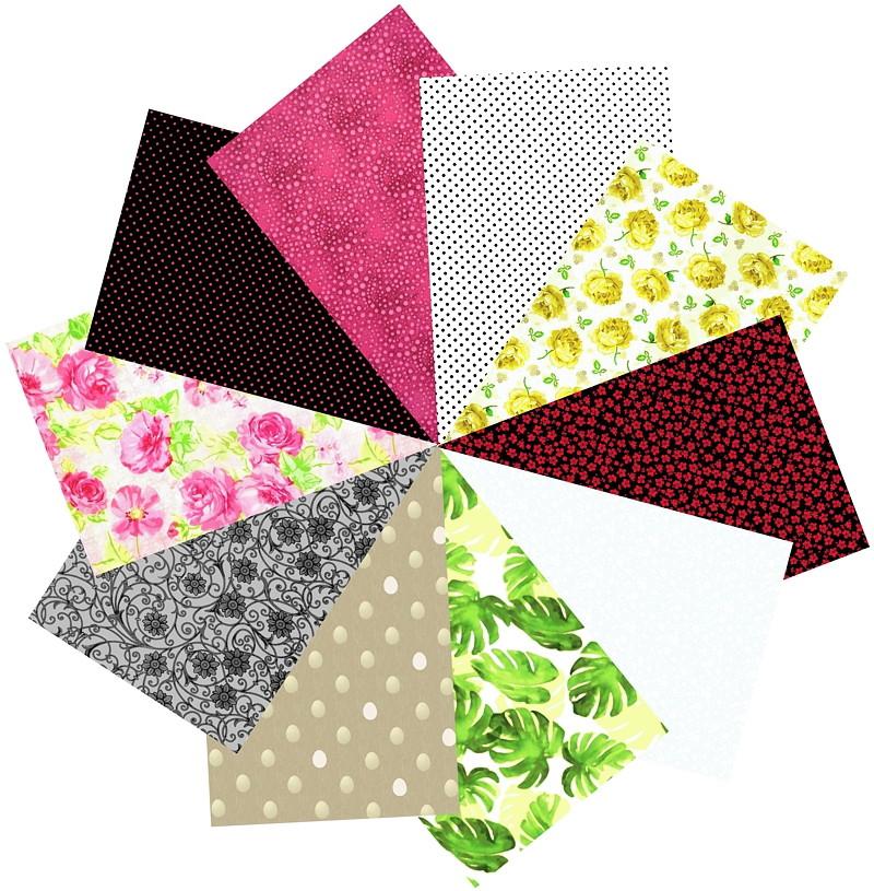 34652a4497 Tecidos Patchwork Kit Multicolorido 17 #10 50cm x 70cm no Elo7 | Flor de  Laranjeira Tecidos (83DA5C)