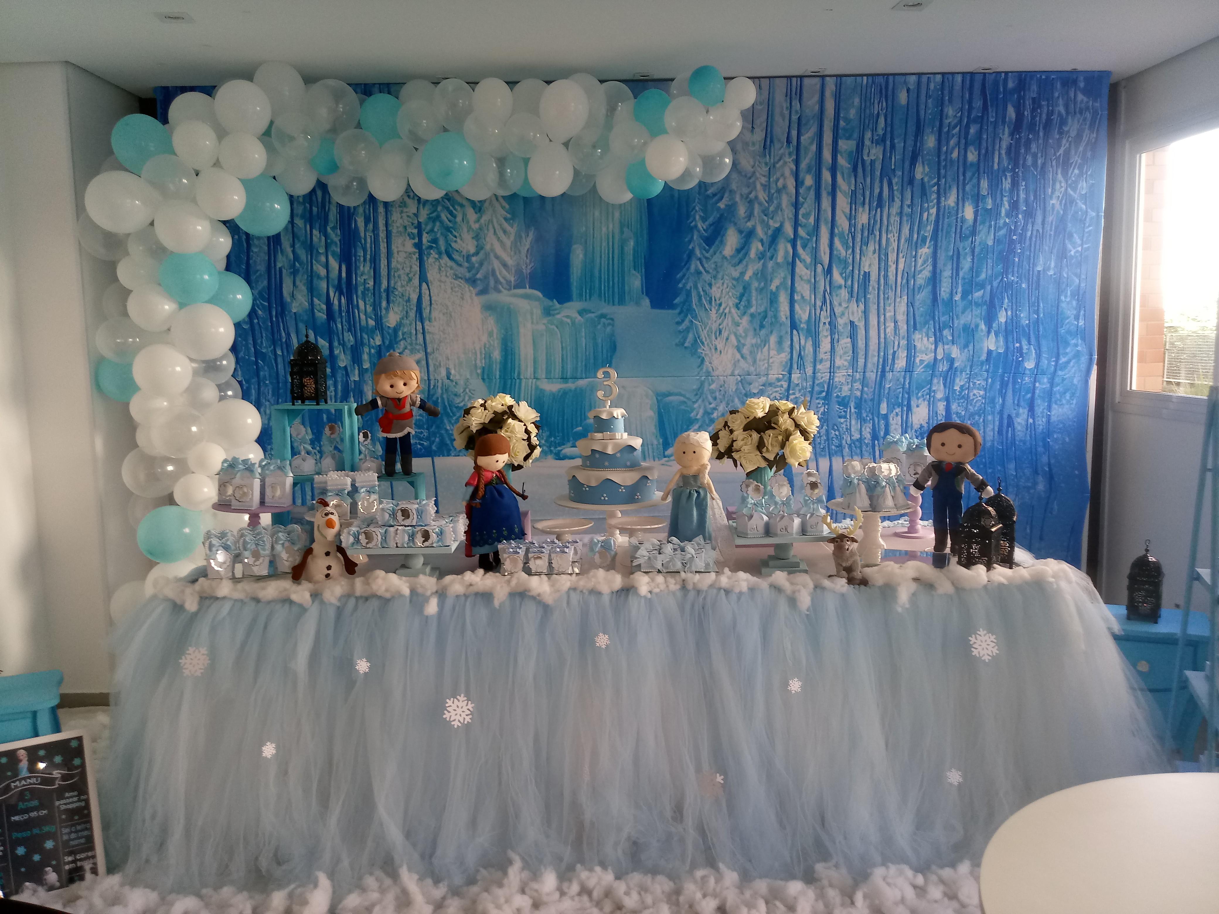Decoração Frozen Luxo Com Painel 3d No Elo7 Ateliê Tem Tudo