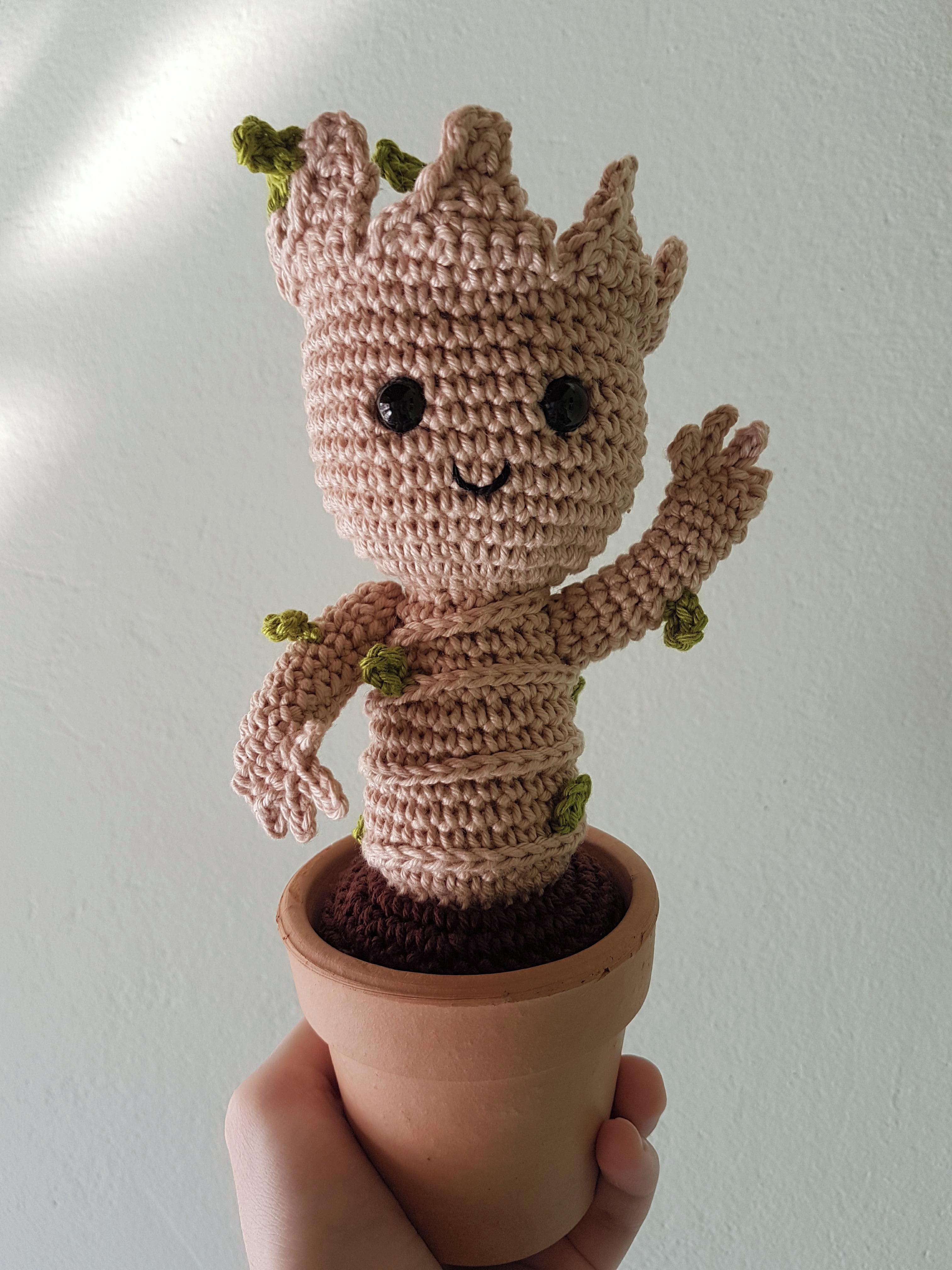 Baby Groot Keyring Free Pattern – Handmade Crochet Amigurumi ... | 4032x3024