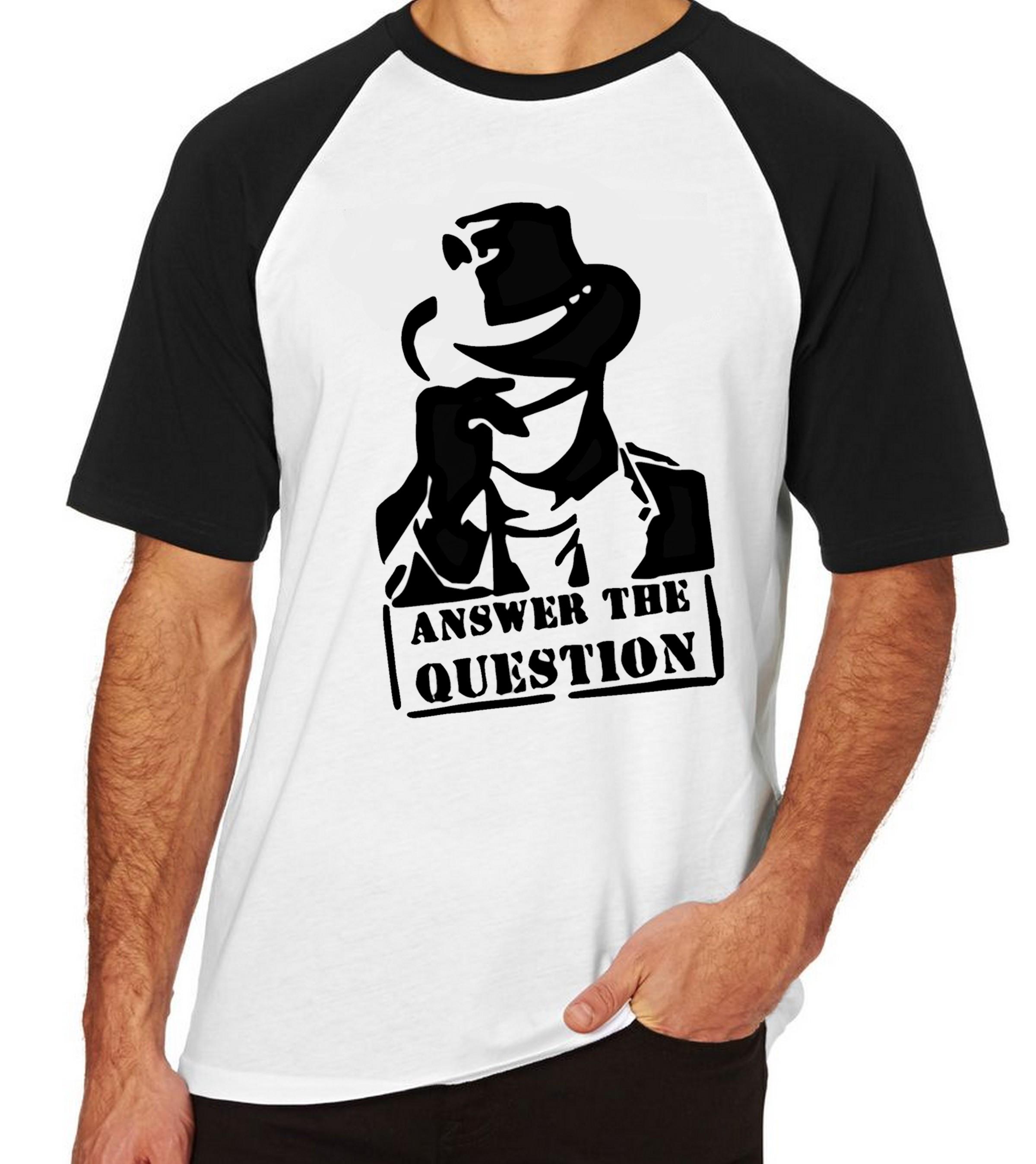 Camiseta Raglan Blusa Camisa Unisex Answer The Question  34308770b65