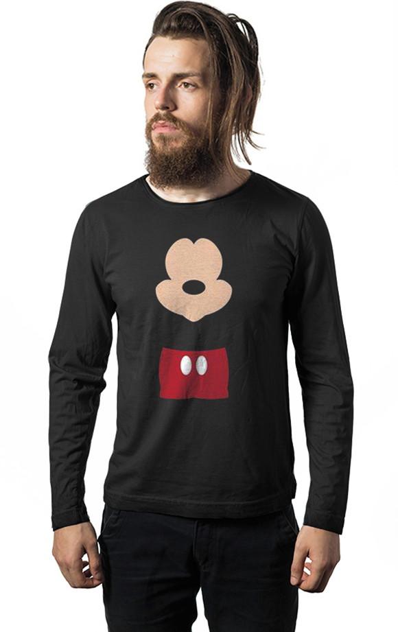 bdee1a703 Camiseta Manga Longa Mickey Mouse