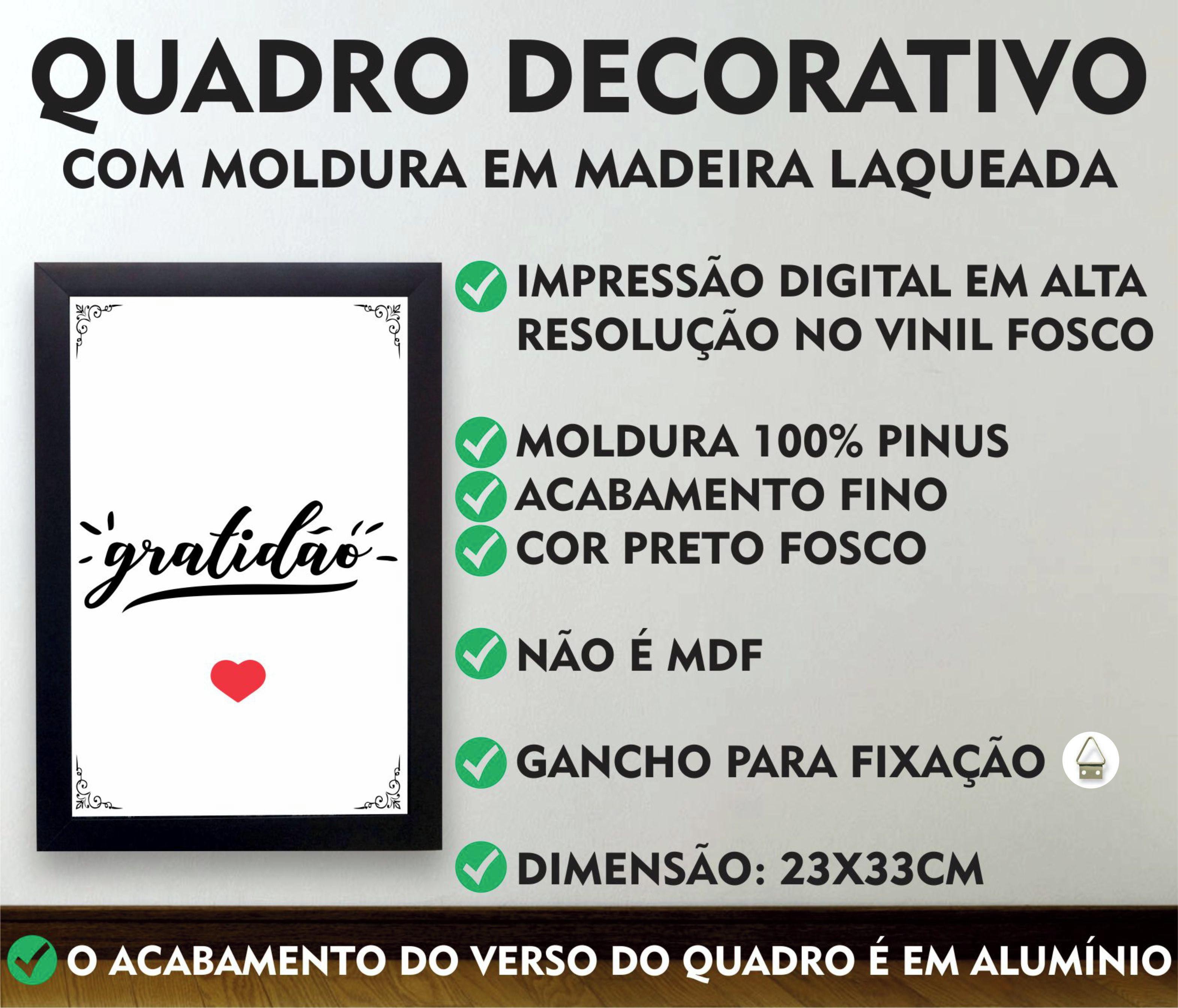 Kit 3 Quadros Decorativos Fe Amor Familia Com Moldura Preta No Elo7