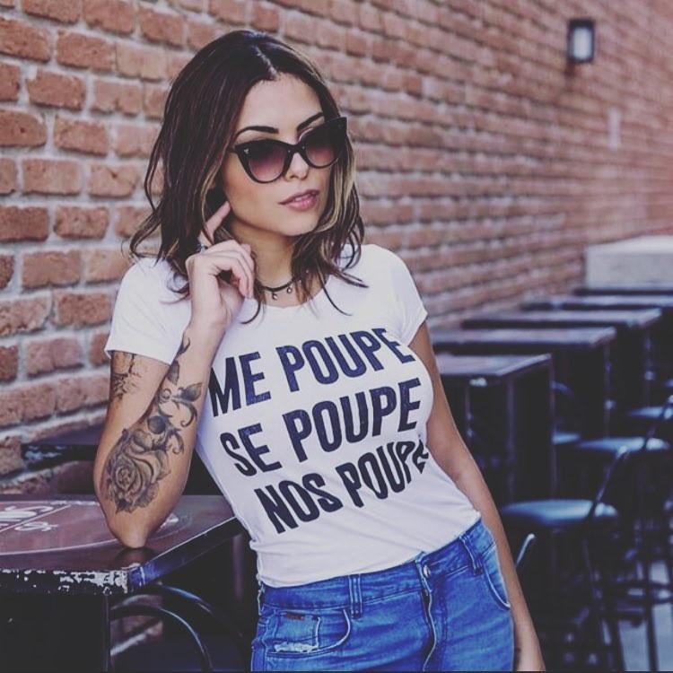 Camisetas Femininas Frases Me Poupe Se Poupe Nos Poupe No Elo7