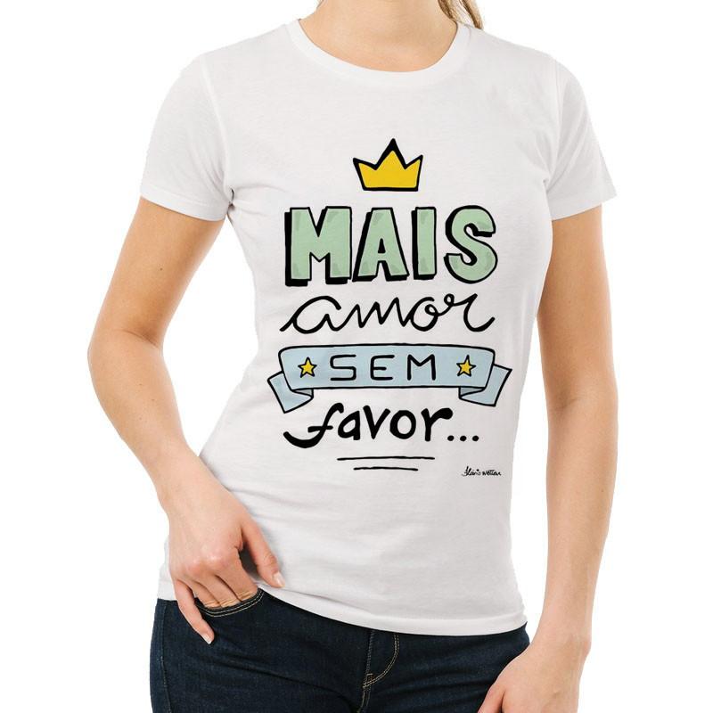 1c856c476 Camiseta Feminina com Frases