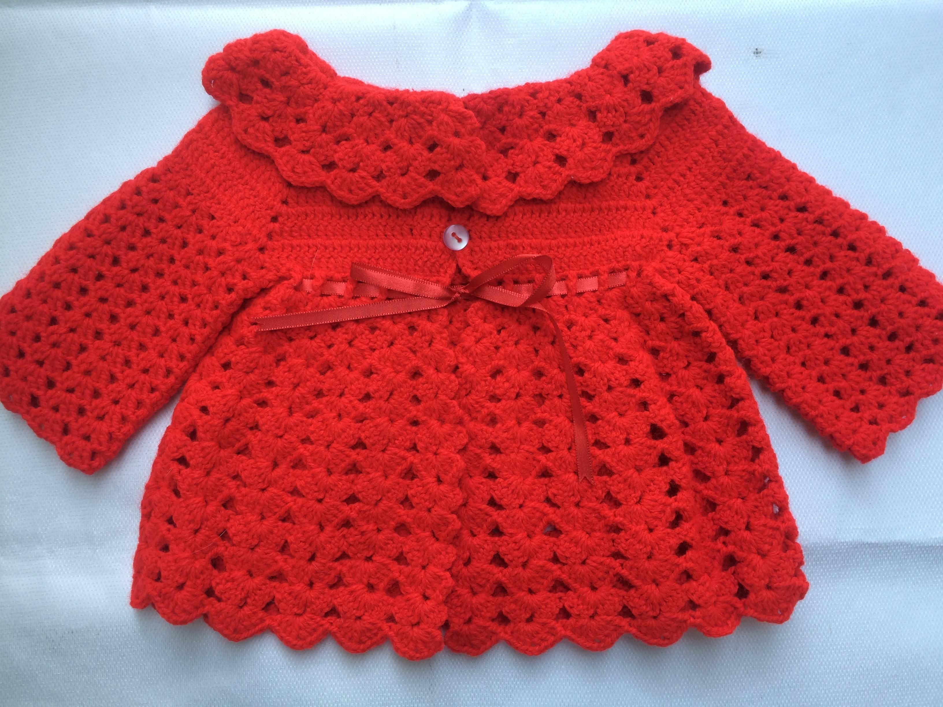 ee094aae34b4a Casaquinho de Bebe em Croche Muitas Artes