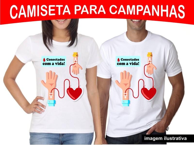 Camiseta Campanha Doação De Sangue Elo7
