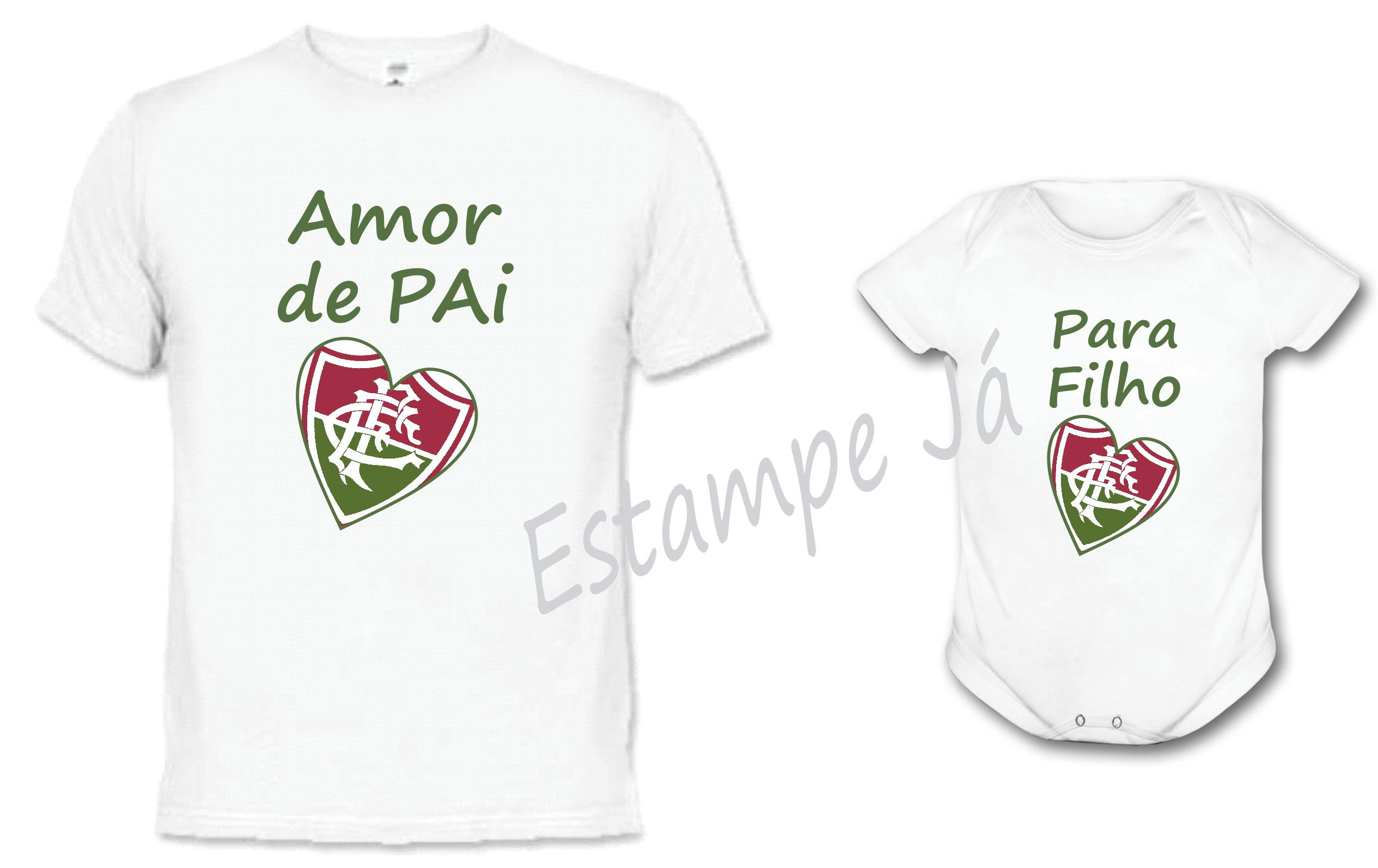 Camisetas do Fluminense Amor de Pai para Filho dia dos Pais no Elo7 ... 019c9e8952b7c