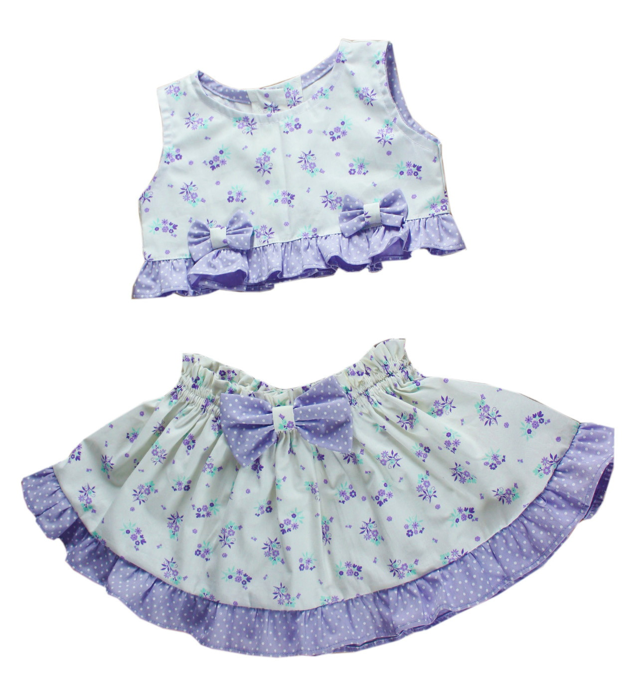 3a7aeee9171 Conjunto Infantil Saia e Blusa Linha
