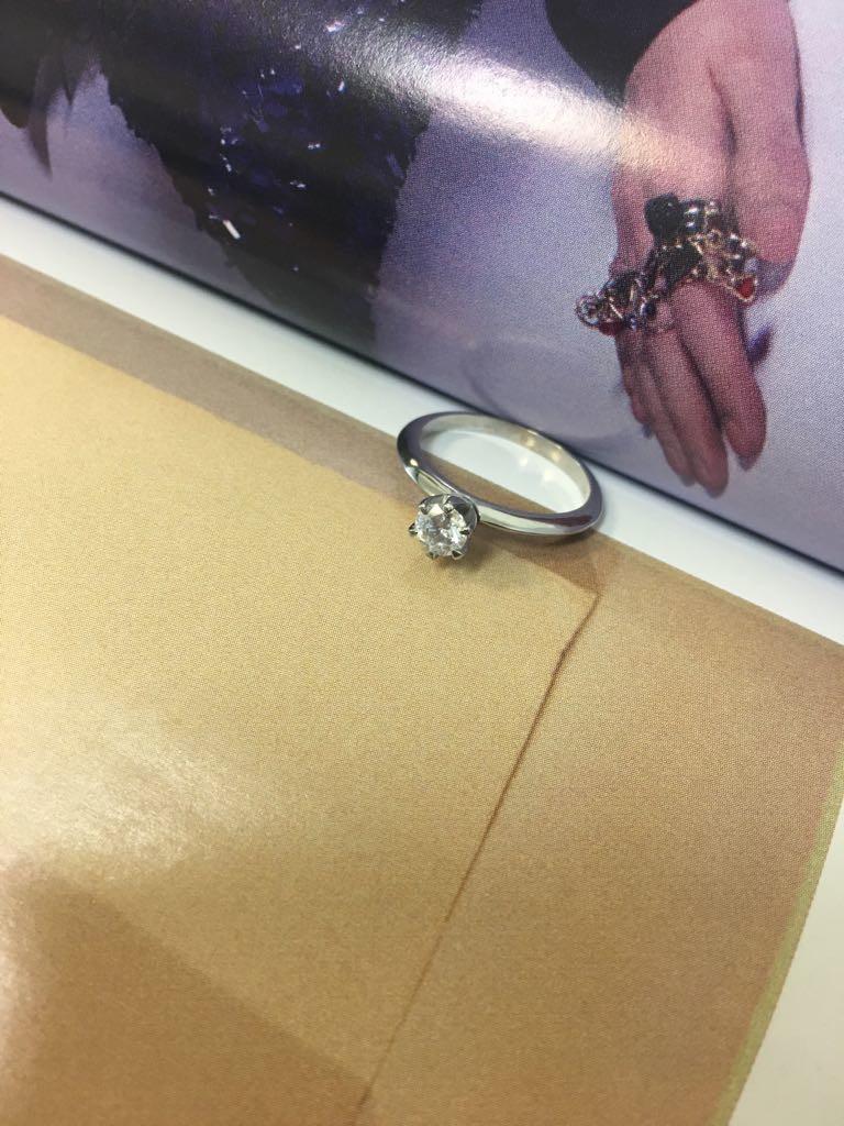 a556f594530fa Cake Co – Anel Solitário Diamante de 28 pontos Ouro Branco no Elo7 ...