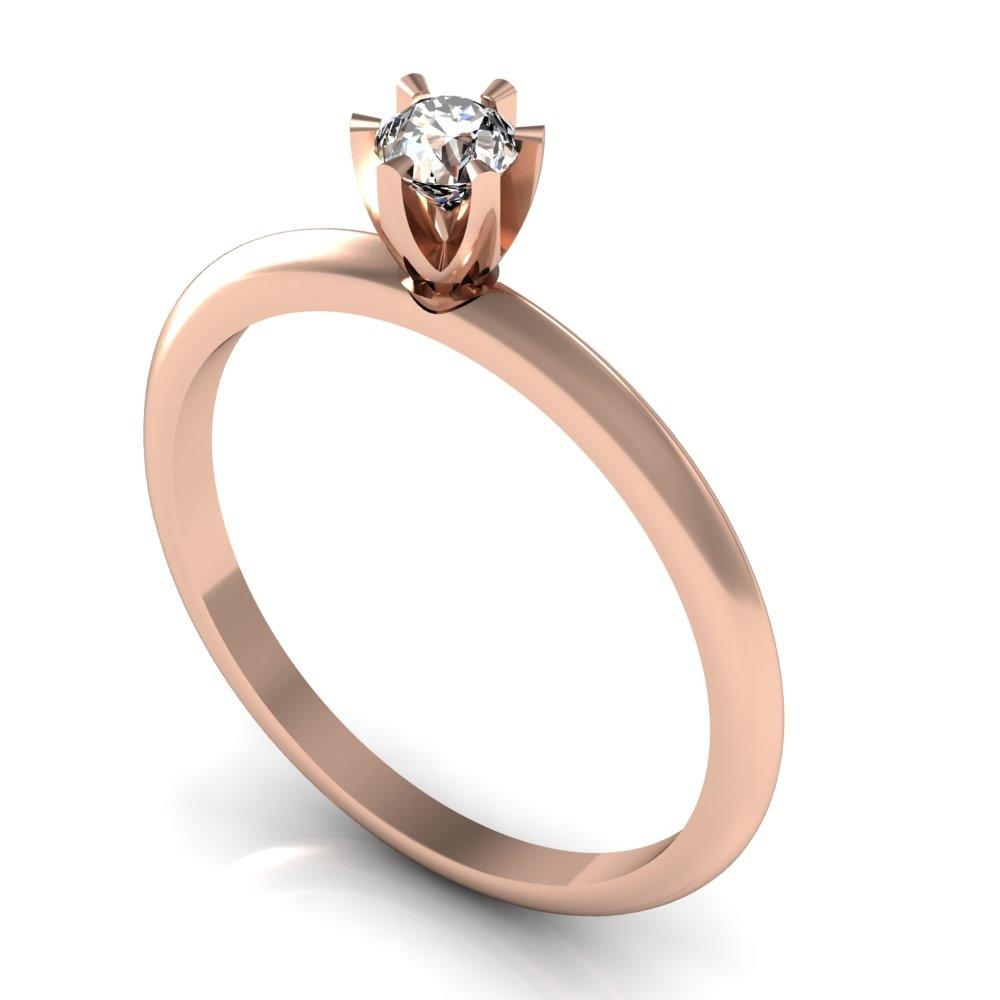 341ba69f9b62c Cake Co – Anel Solitário Diamante de 28 pontos Ouro Amarelo no Elo7 ...