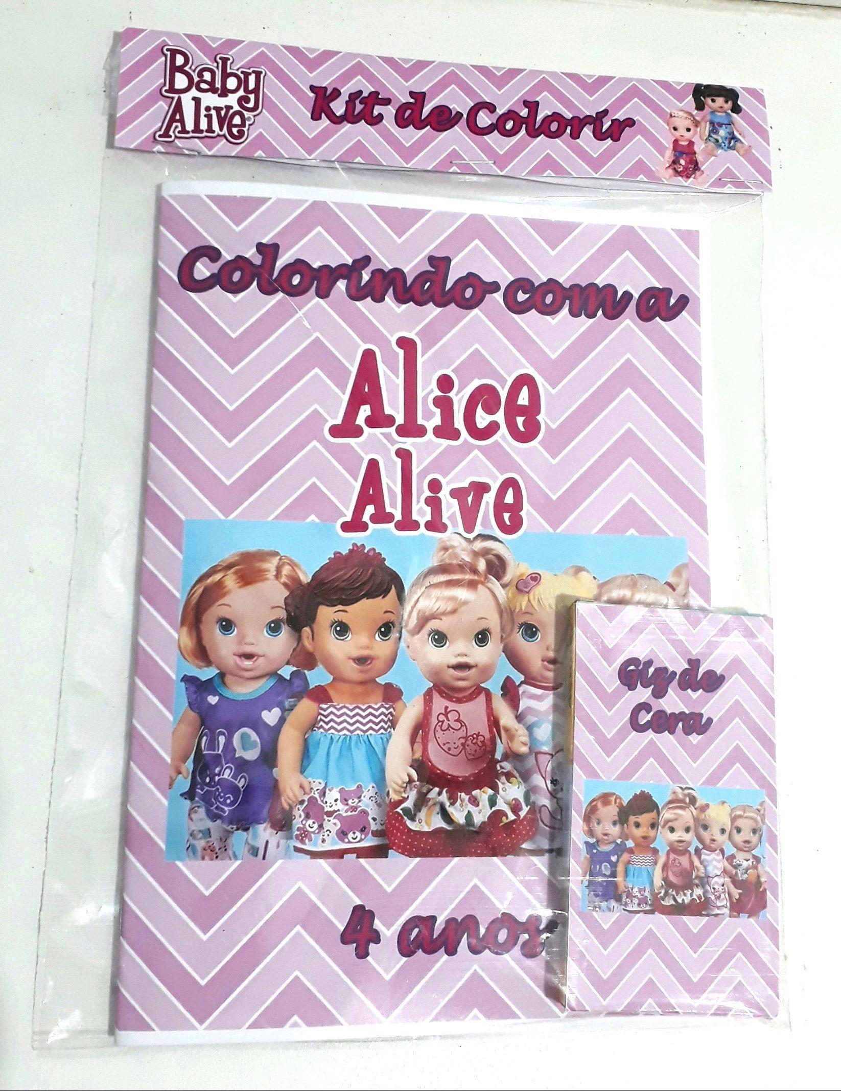 Lembrancinha Kit De Colorir Baby Alive No Elo7 Atelie Cheirinho