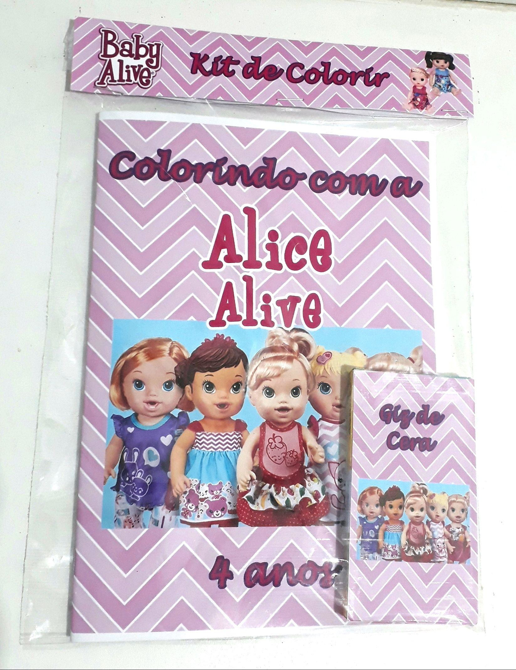 Lembrancinha Kit De Colorir Baby Alive