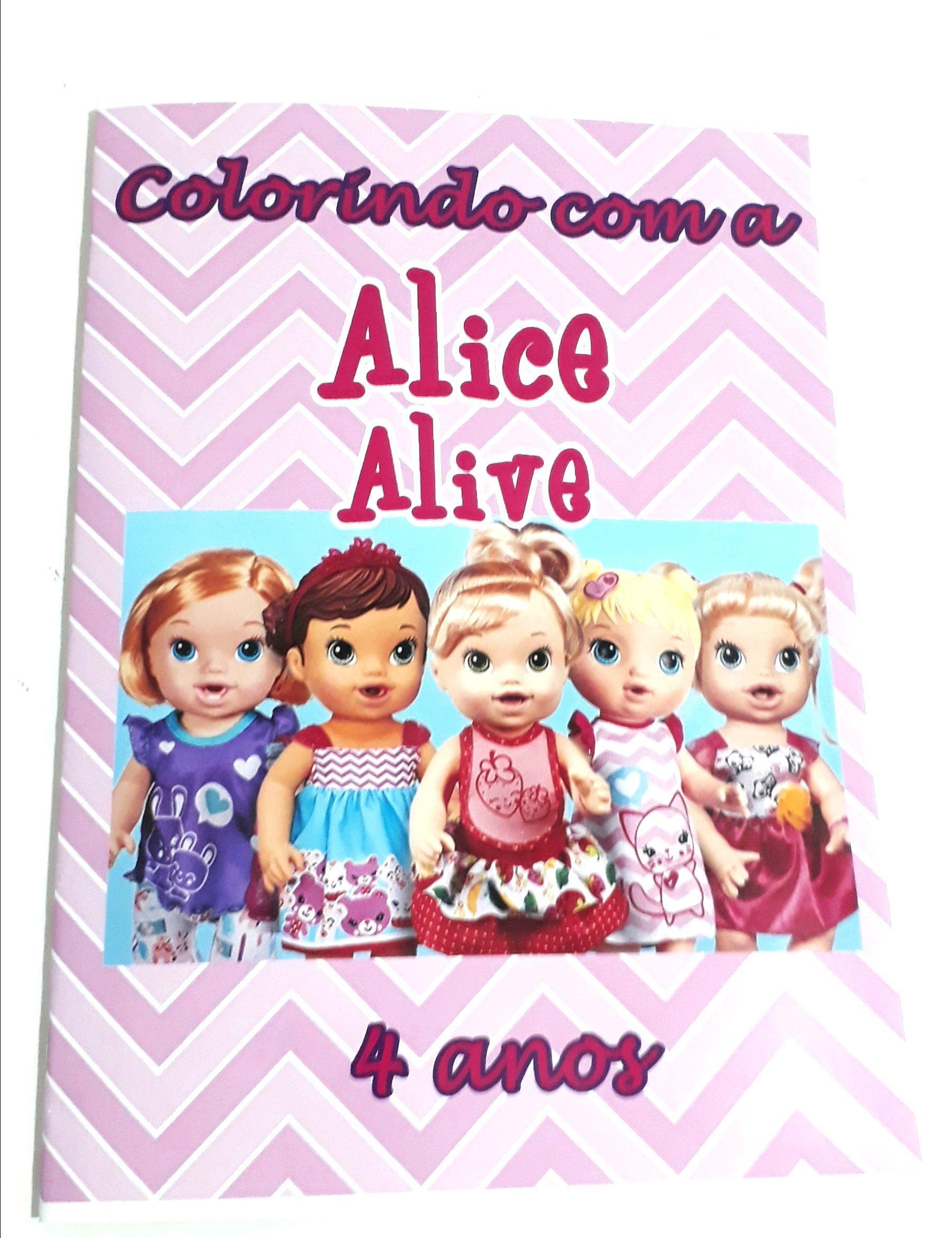 Livro Colorir Lembrancinha Personalizado Baby Alive No Elo7