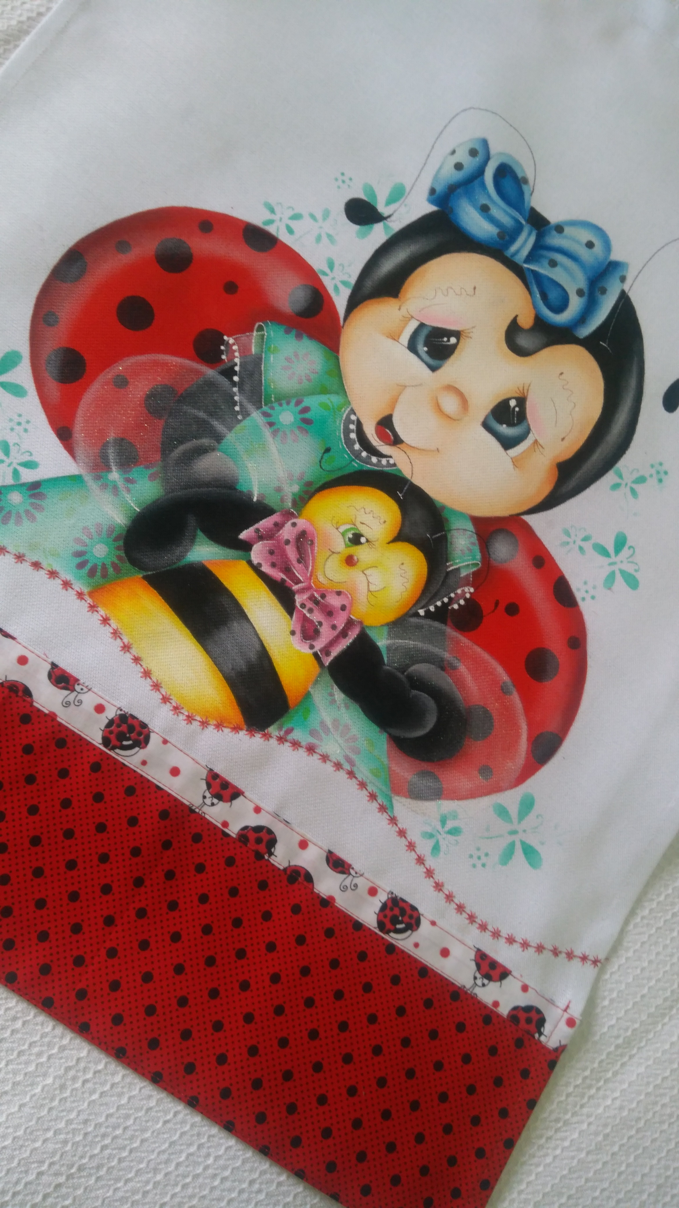 Joaninha E Abelhinha No Elo7 Dryka Pintura Em Tecido Cd4007