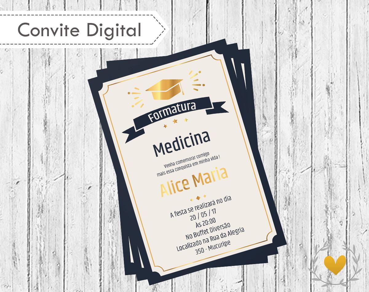 Convite Digital Formatura Elo7